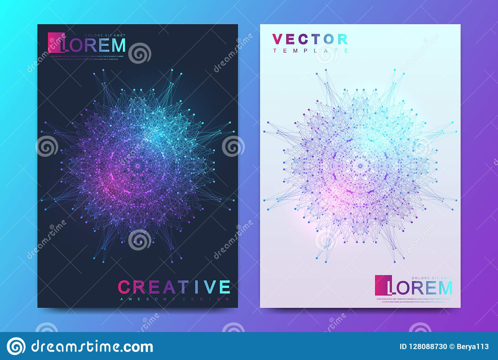 Modern vector template for brochure, leaflet, flyer, cover, banner, catalog, magazine, or annual report in A4 size