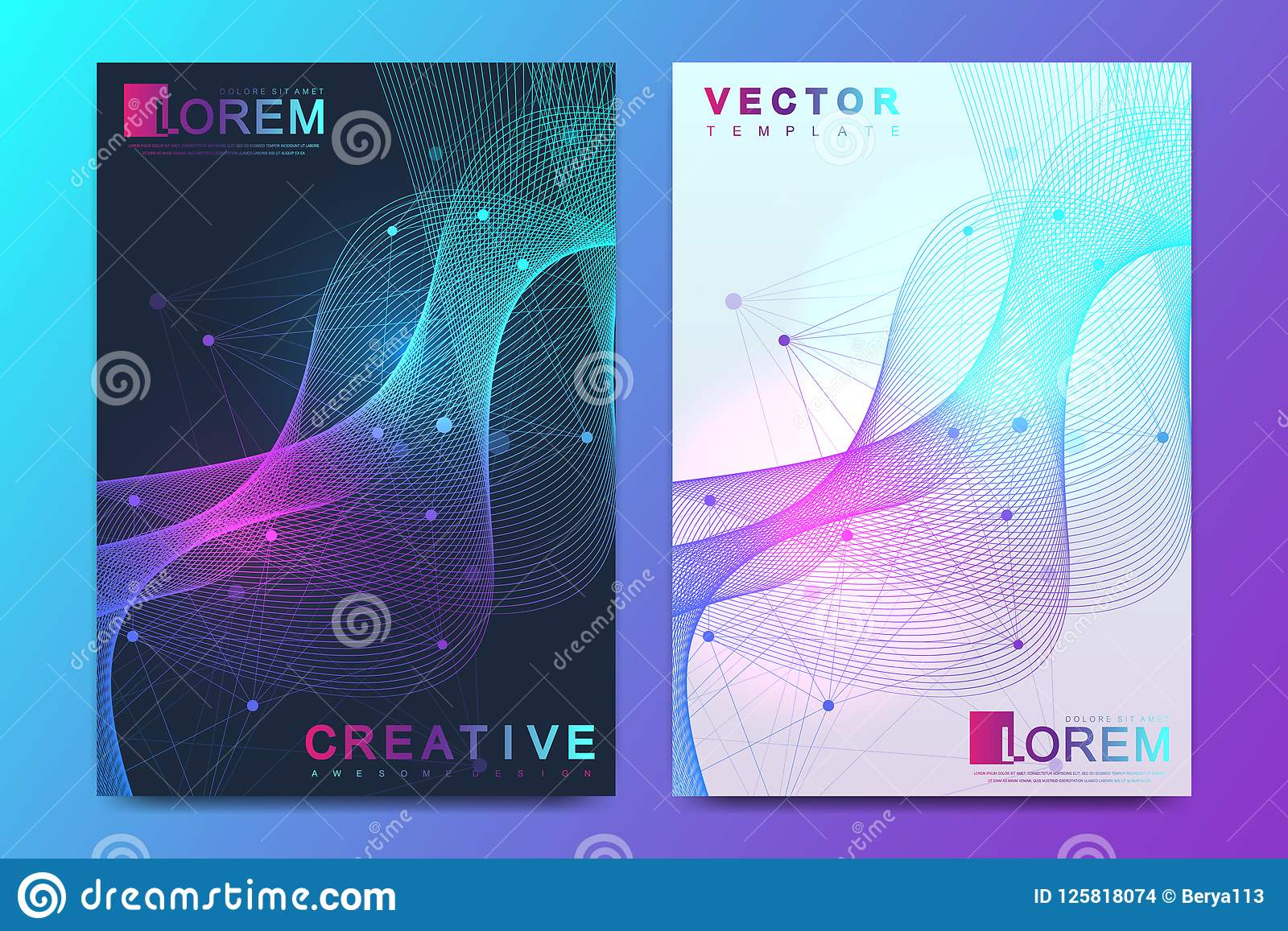 Modern vector template for brochure, leaflet, flyer, cover, catalog, magazine, banner or annual report. A4 size