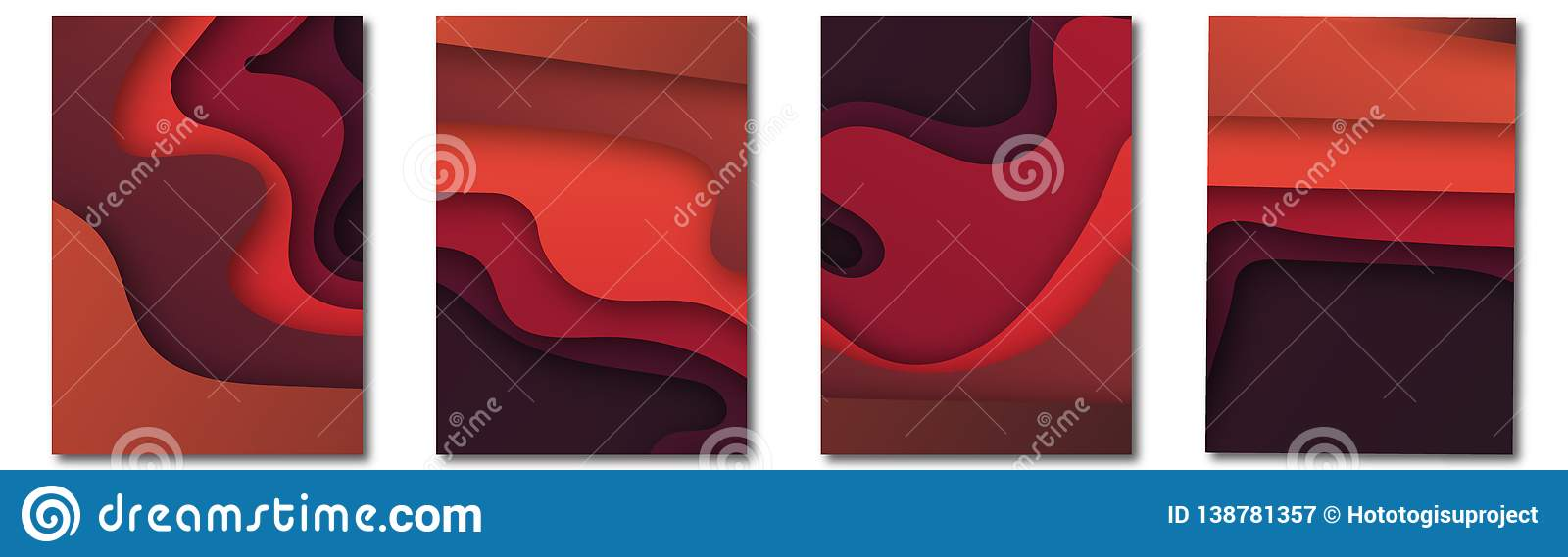 Modern vector template for brochure, leaflet, flyer, cover, catalog in A4 size. Abstract fluid 3d shapes vector trendy liquid