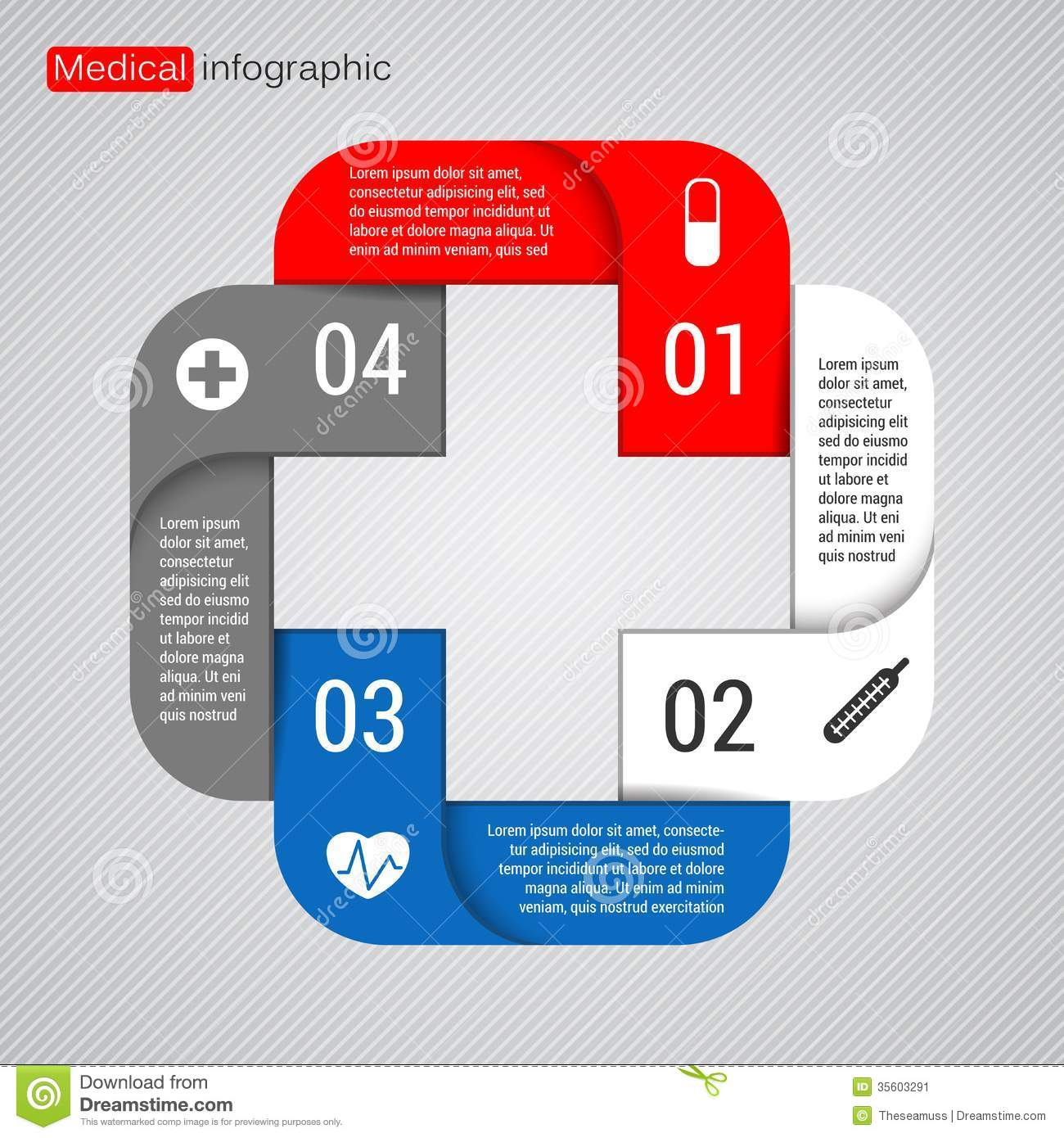 modern vector template for your medical project stock vector