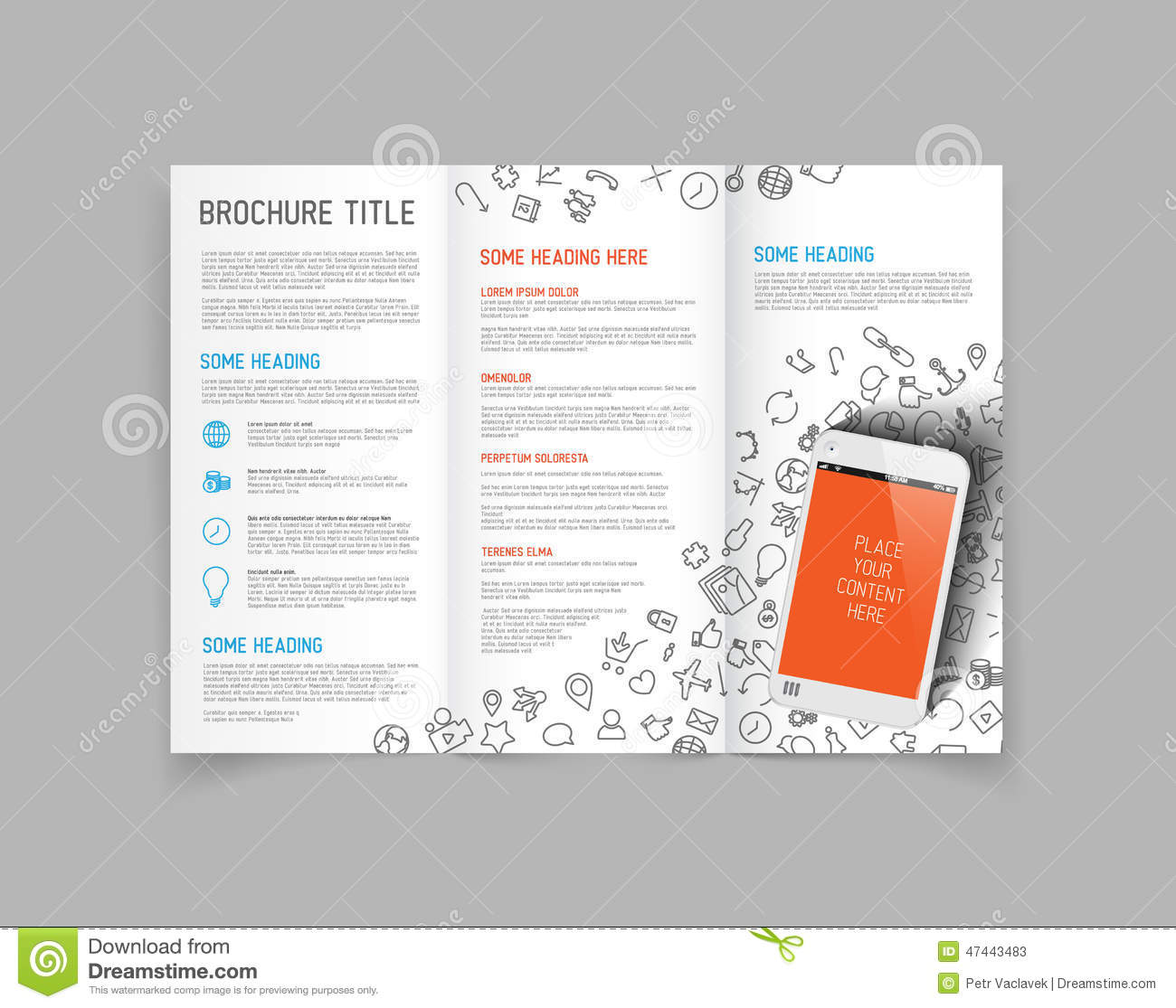 3 fold brochure design templates modern vector three fold brochure design template stock