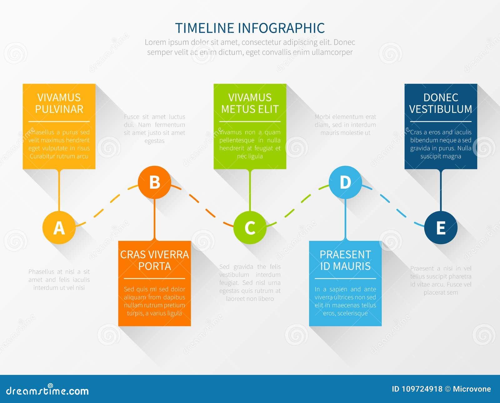 Modern vector timeline. Workflow chart infographic concept for marketing presentation