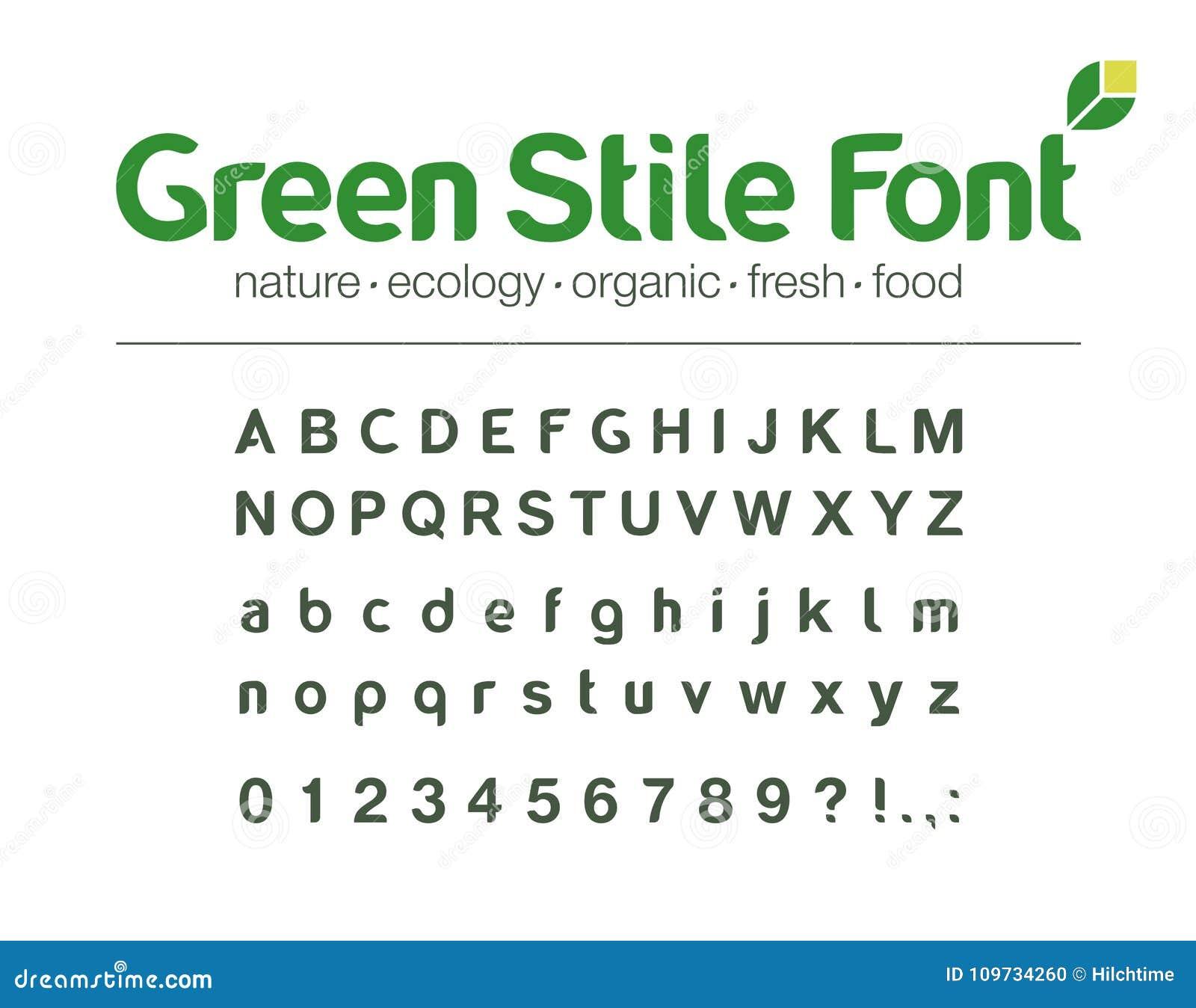 Modern Vector Typeface  Universal Font  Food, Drink, Organic, Nature