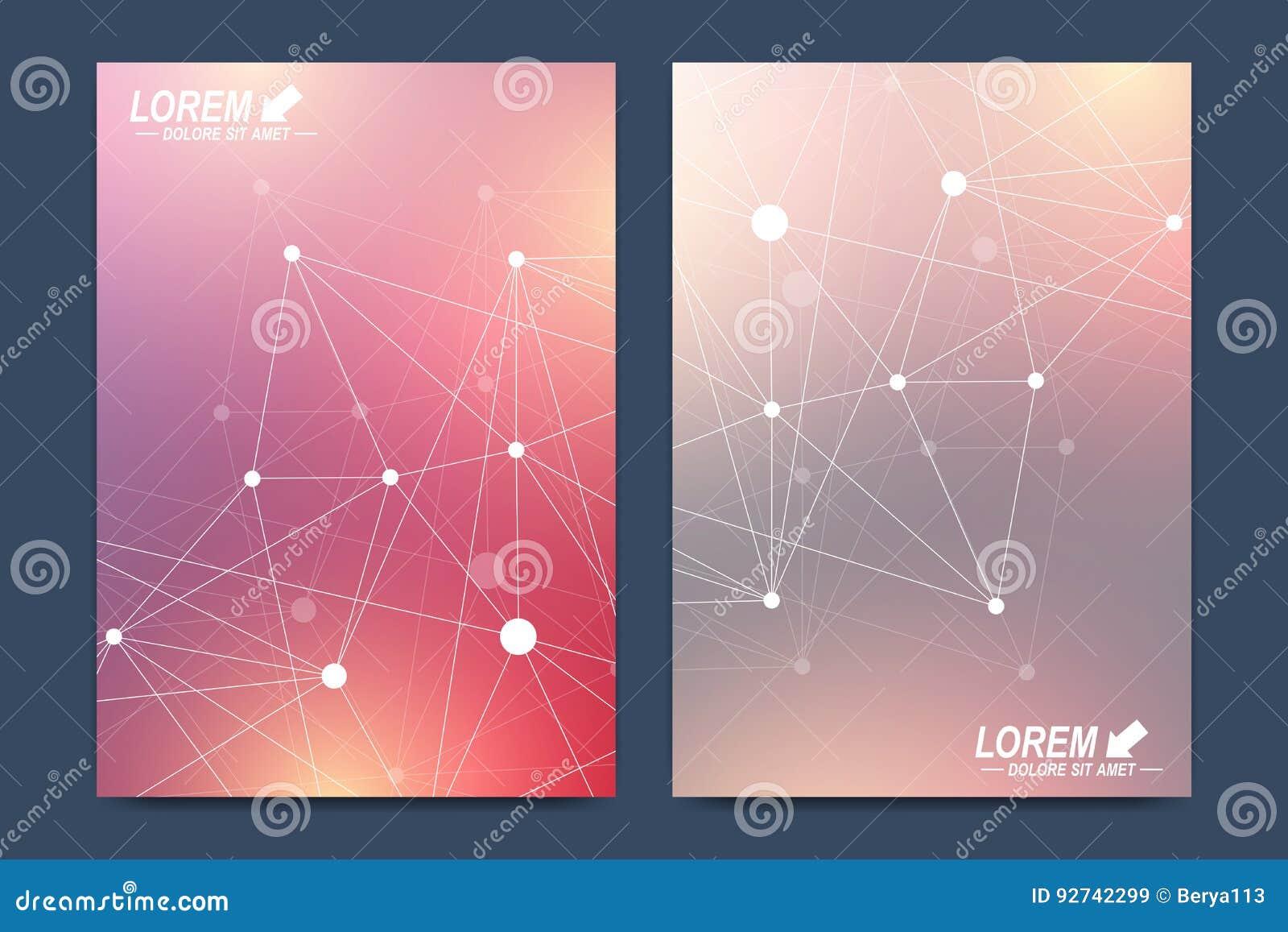 Modern vectormalplaatje voor brochure, Pamfletvlieger, advertentie, dekking, catalogus, tijdschrift of jaarverslag Zaken, wetensc
