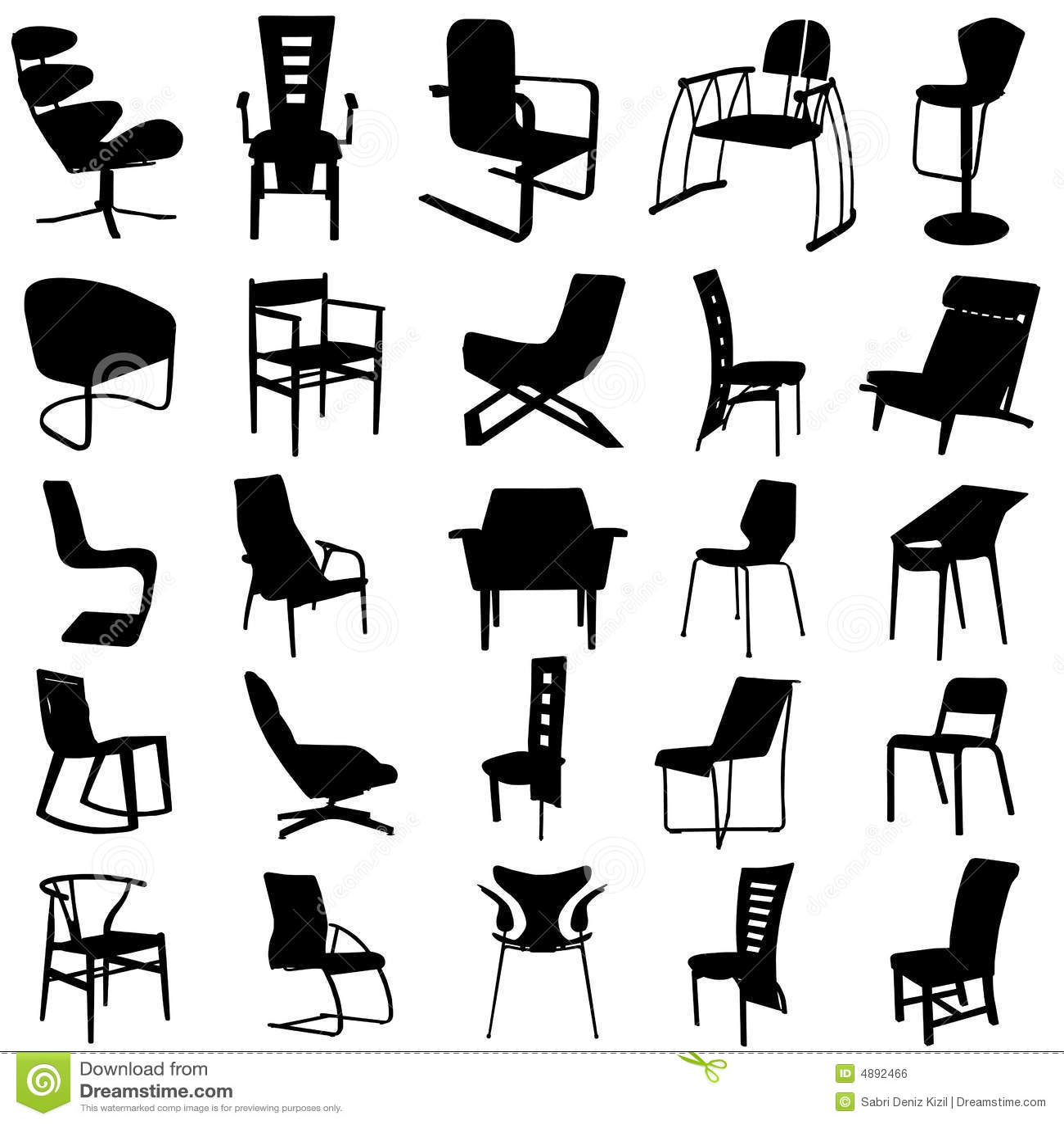 Modern vektor för 2 stol