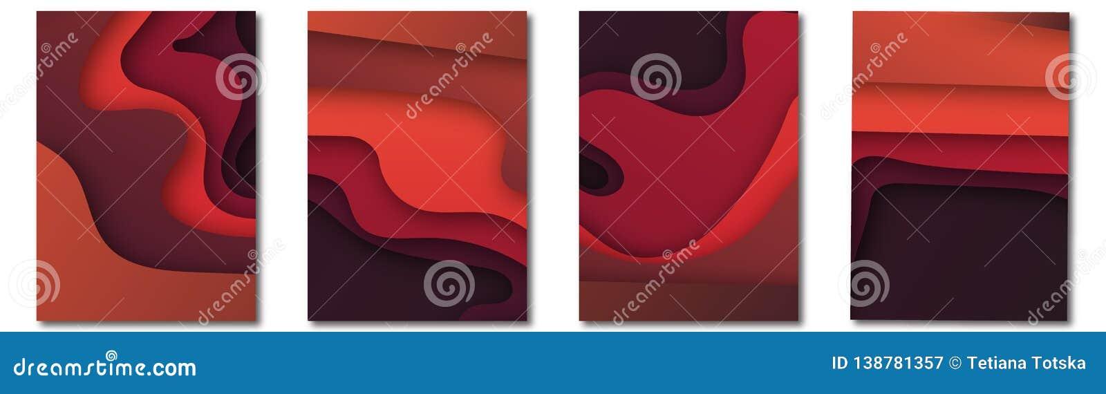 Modern vektormall för broschyren, broschyr, reklamblad, räkning, katalog i formatet A4 Abstrakt vätska 3d formar moderiktig flyta