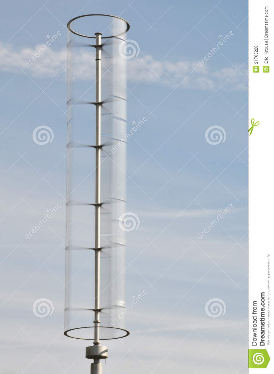 Modern Vertical Axis Wind Turbine Stock Photo - Image of