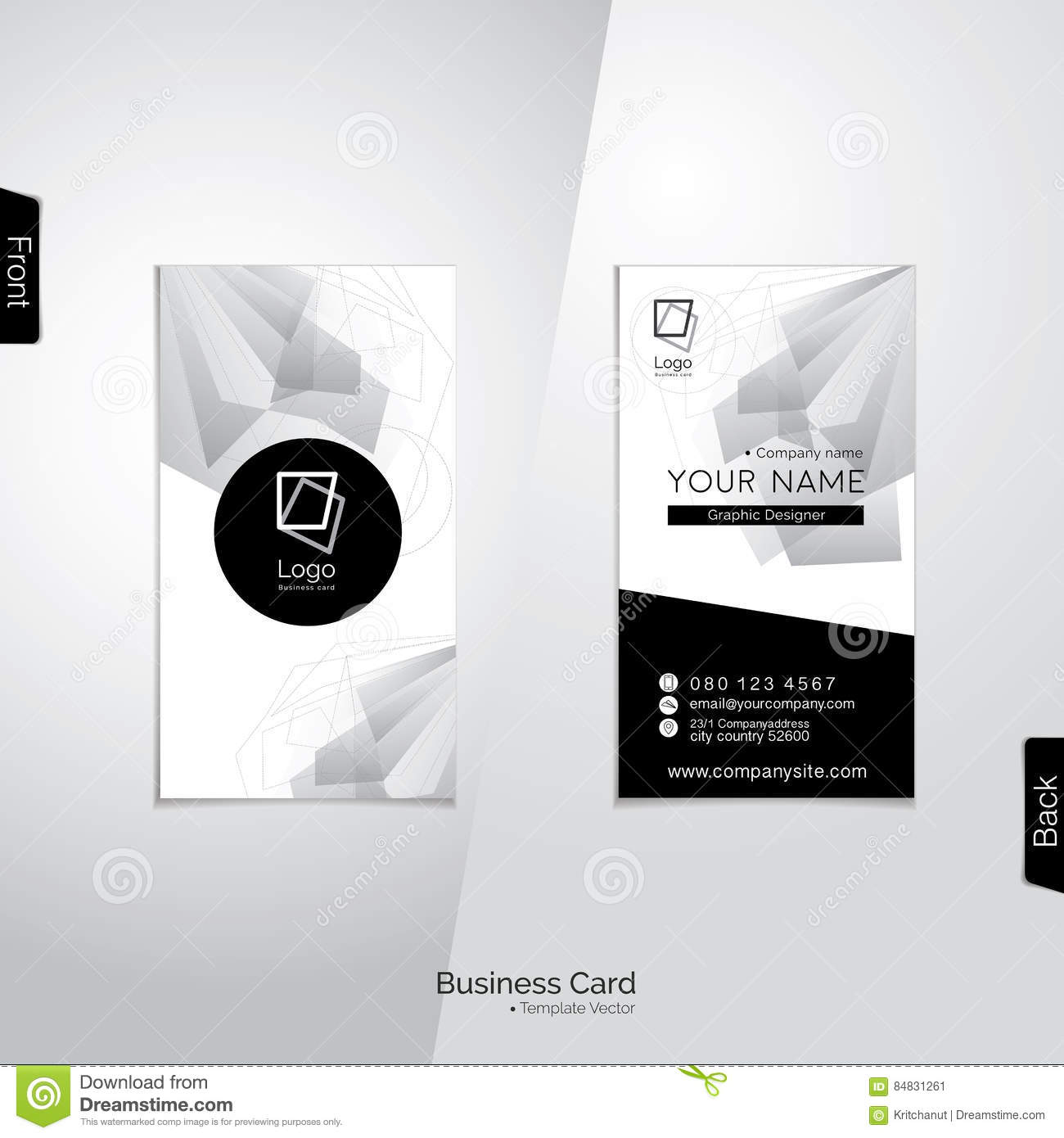 Modern vertical black and white business card vector template stock modern vertical black and white business card vector template royalty free vector flashek Gallery