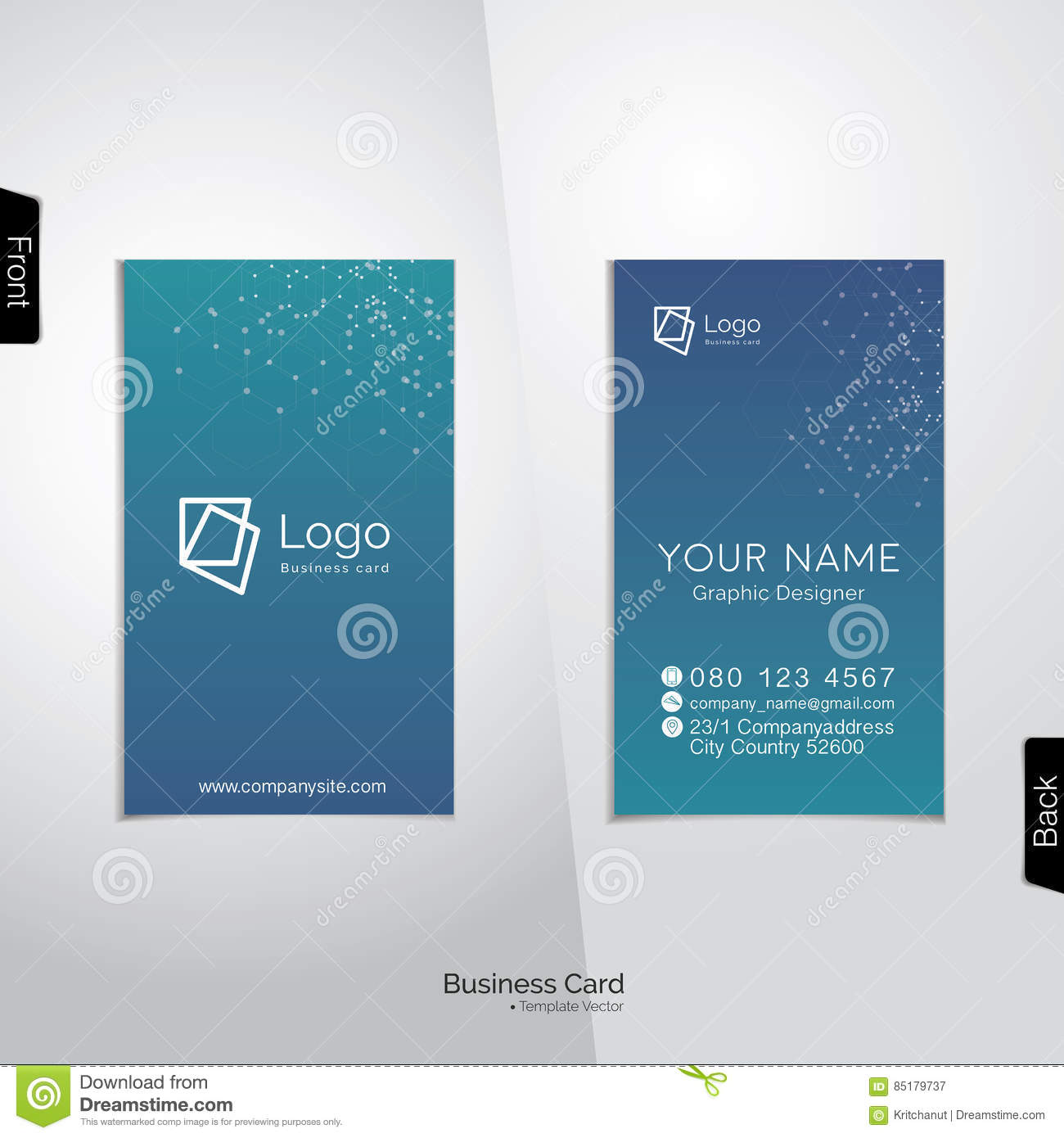 Modern vertical business card vector template stock vector modern vertical business card vector template accmission Gallery