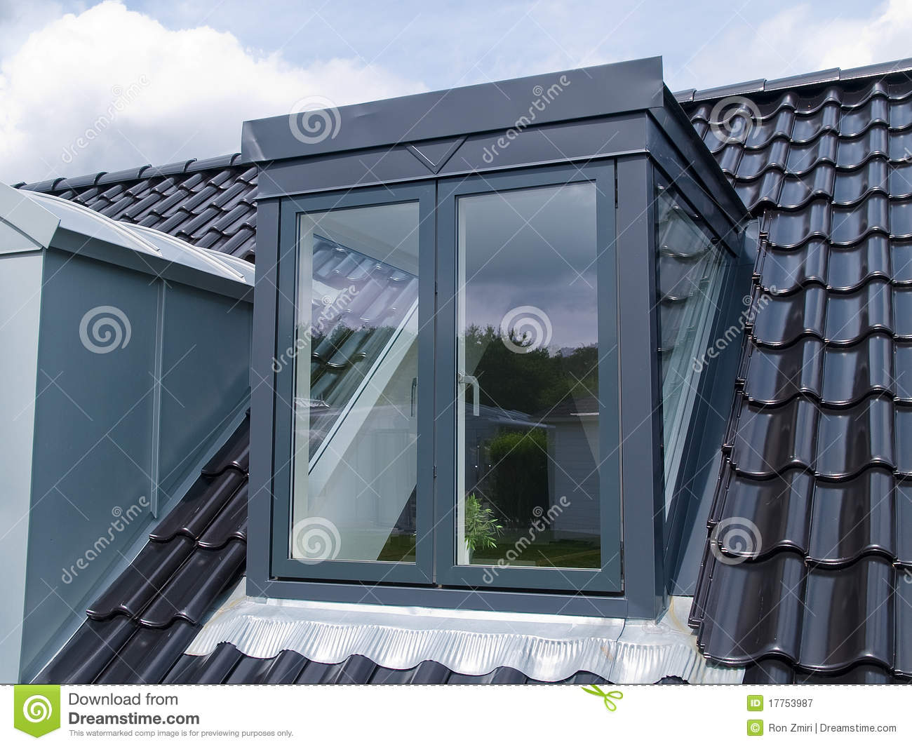 Modern vertical roof window stock image image of window for Window roof design
