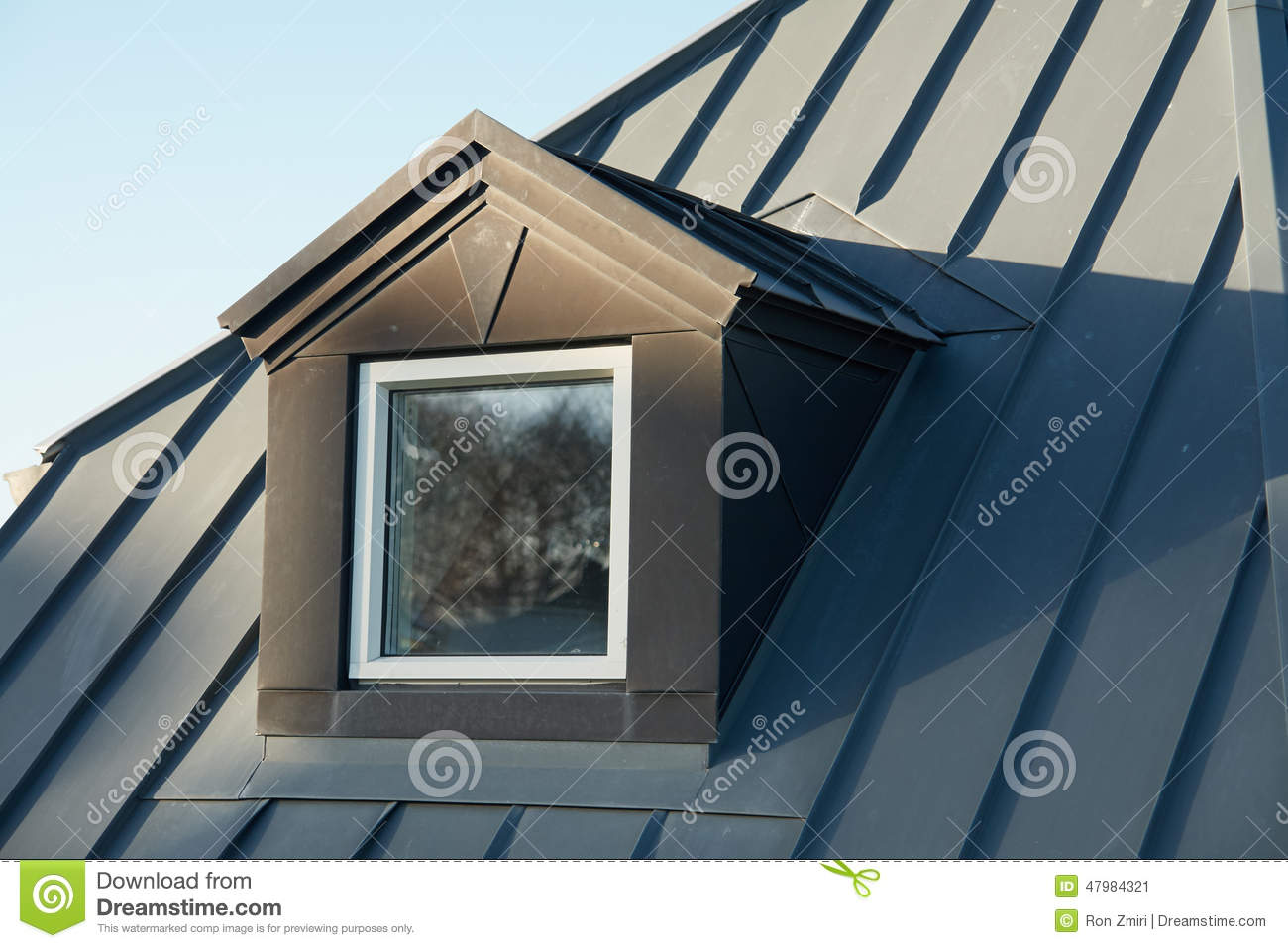 Modern Vertical Roof Windows Stock Image Image Of Closeup Residential 47984321