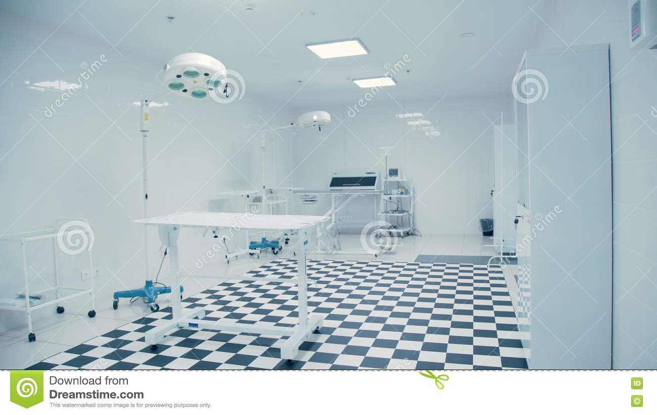 Modern Veterinary Clinic. Tiled Black And White Floor. Stock Footage ...