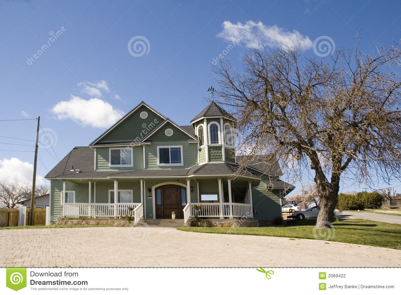 Modern victorian style home stock photo image 2069422 Modern victorian architecture