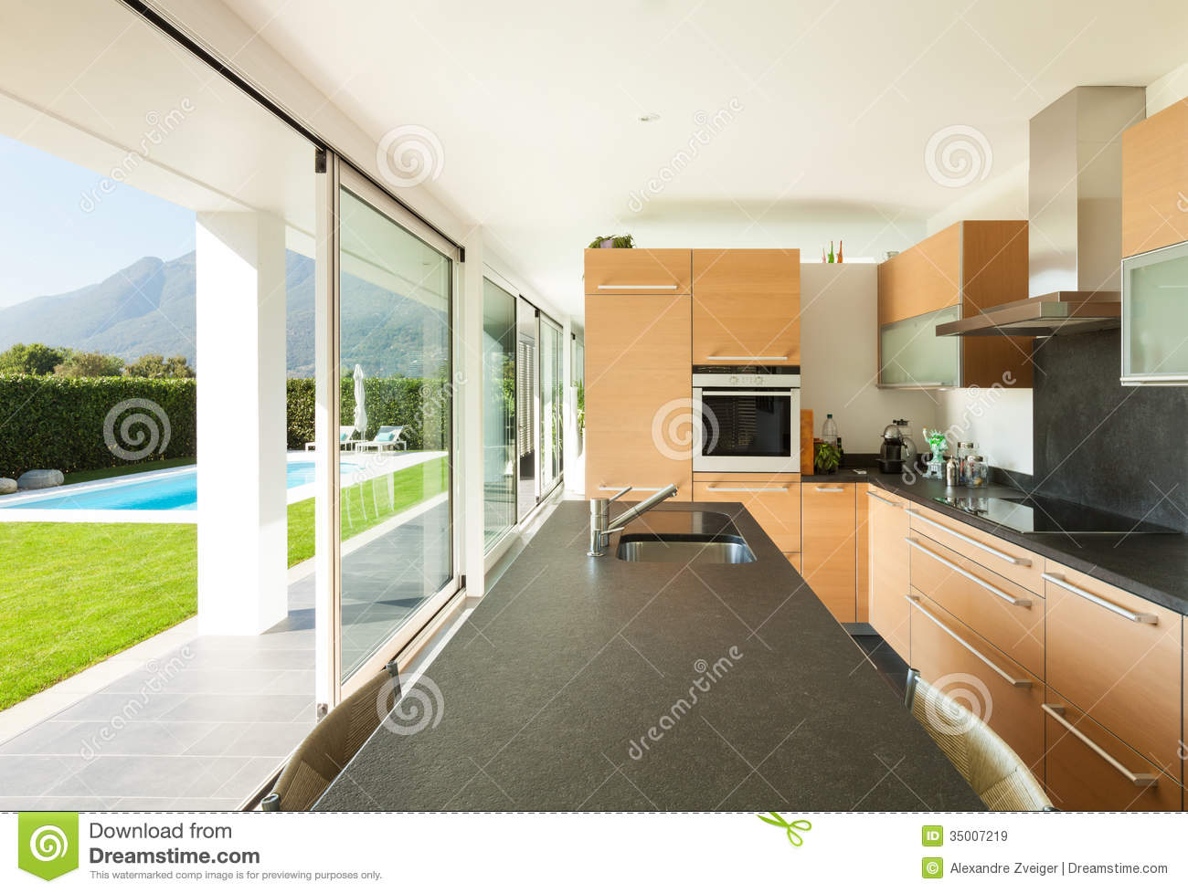 Modern villa beautiful interiors stock image image 35007219 - Modern villa interieur ...