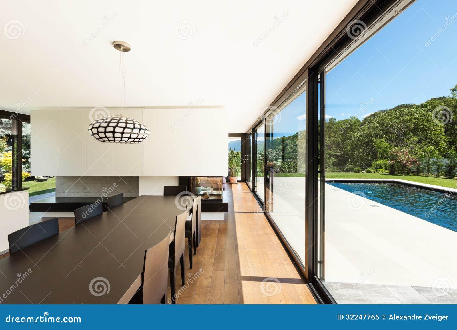 Modern villa interior stock photo. image of black garden 32247766