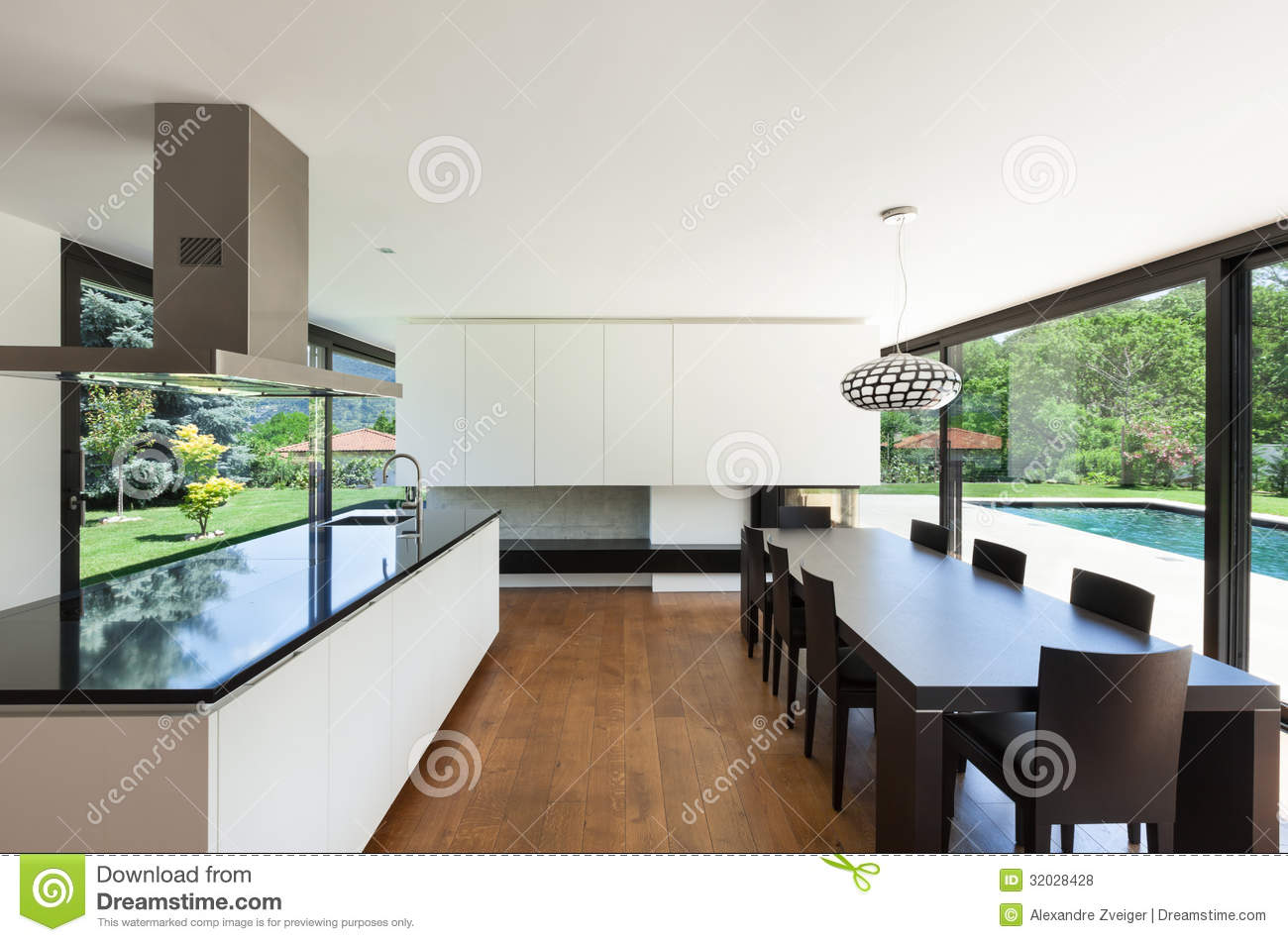 Modern villa interior stock photo image of design indoor 32028428 - Modern villa interieur ...