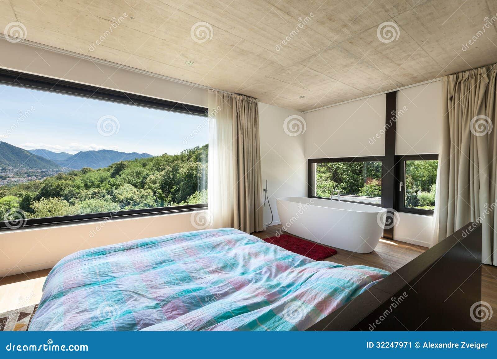 Modern Villa Interior Bedroom Stock Image Image 32247971