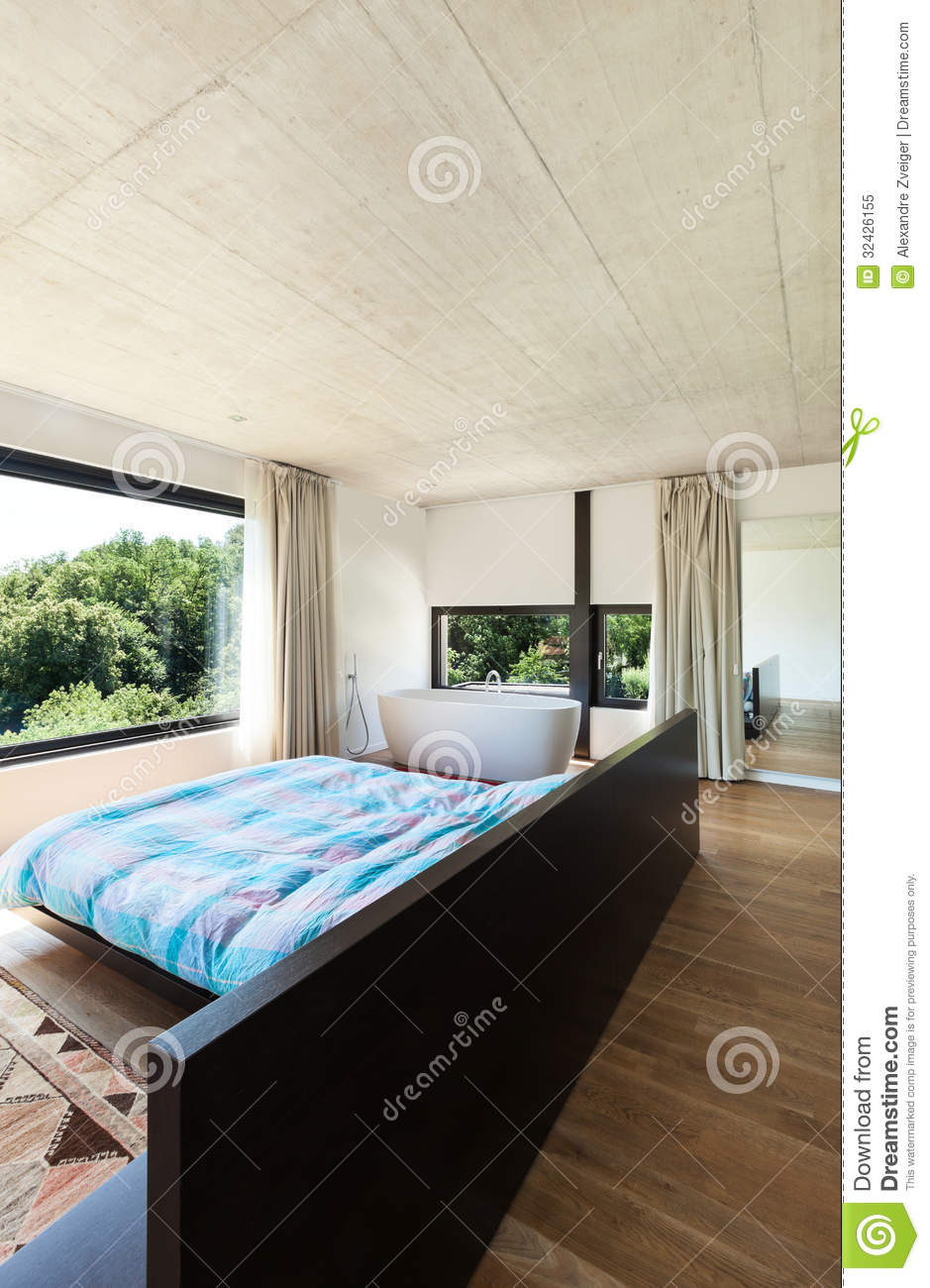 Modern Villa Interior Bedroom Stock Image Image Of