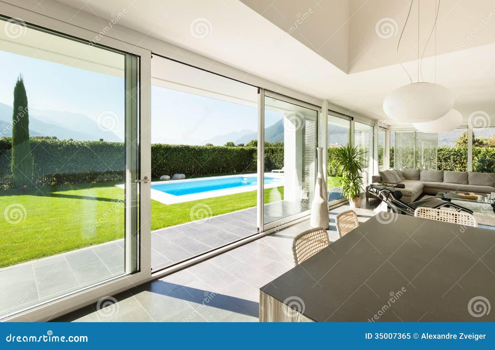 Modern villa interior stock image image of comfort for Modern villa interior