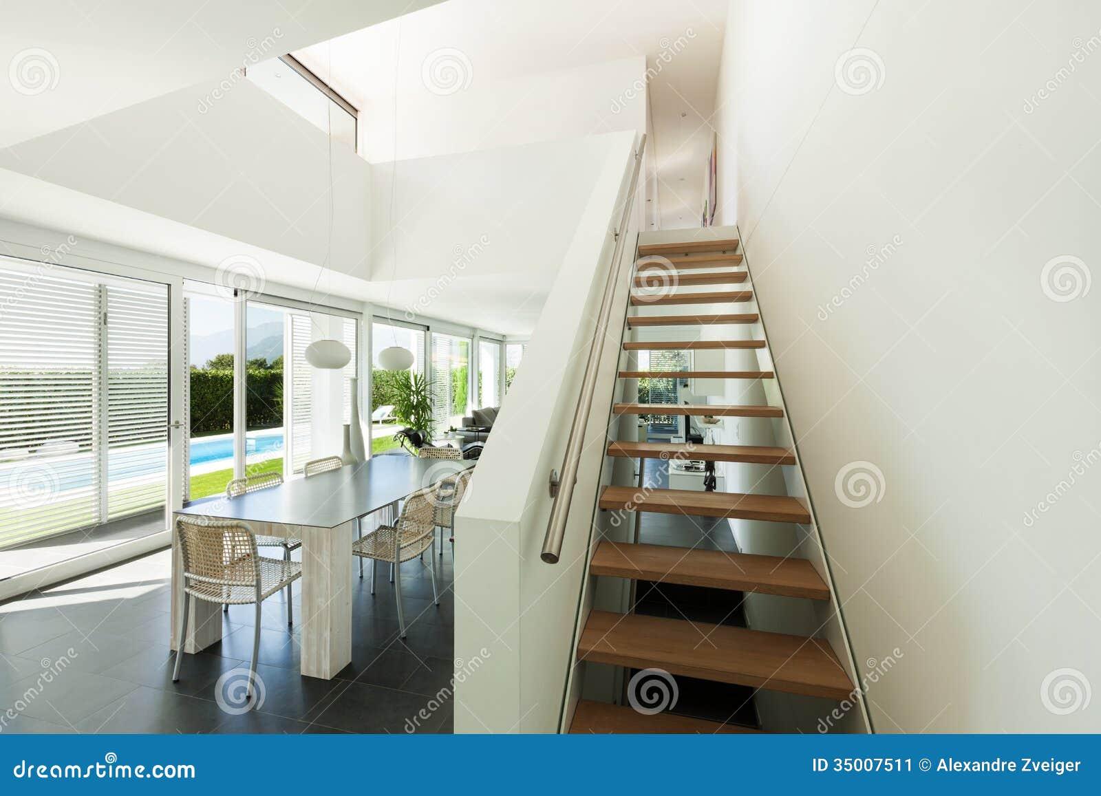 Modern villa, interior stock image. Image of indoor, comfortable ...