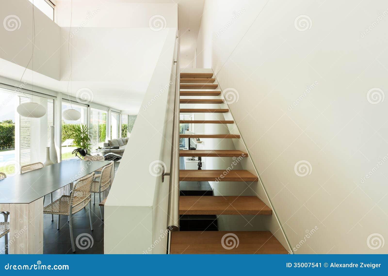 Modern villa interior stock image image of inside lamp for Modern villa interior
