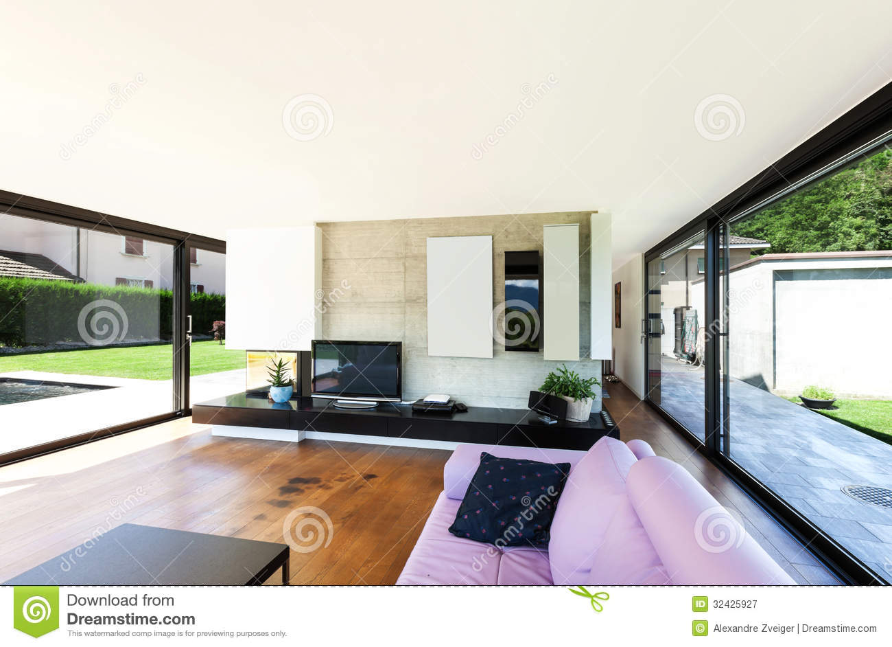 Modern villa interior royalty free stock photography image 32425927 - Modern villa interieur ...