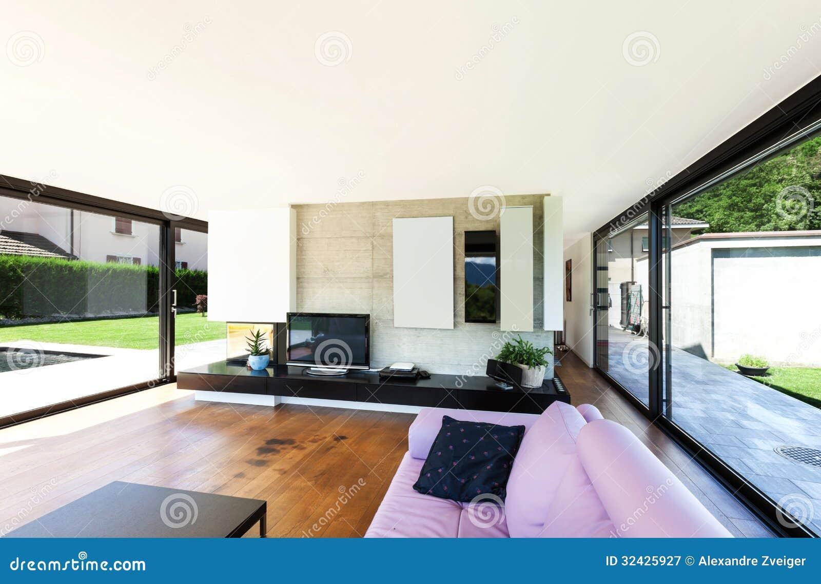 Modern villa interior stock image image of design for Modern villa interior