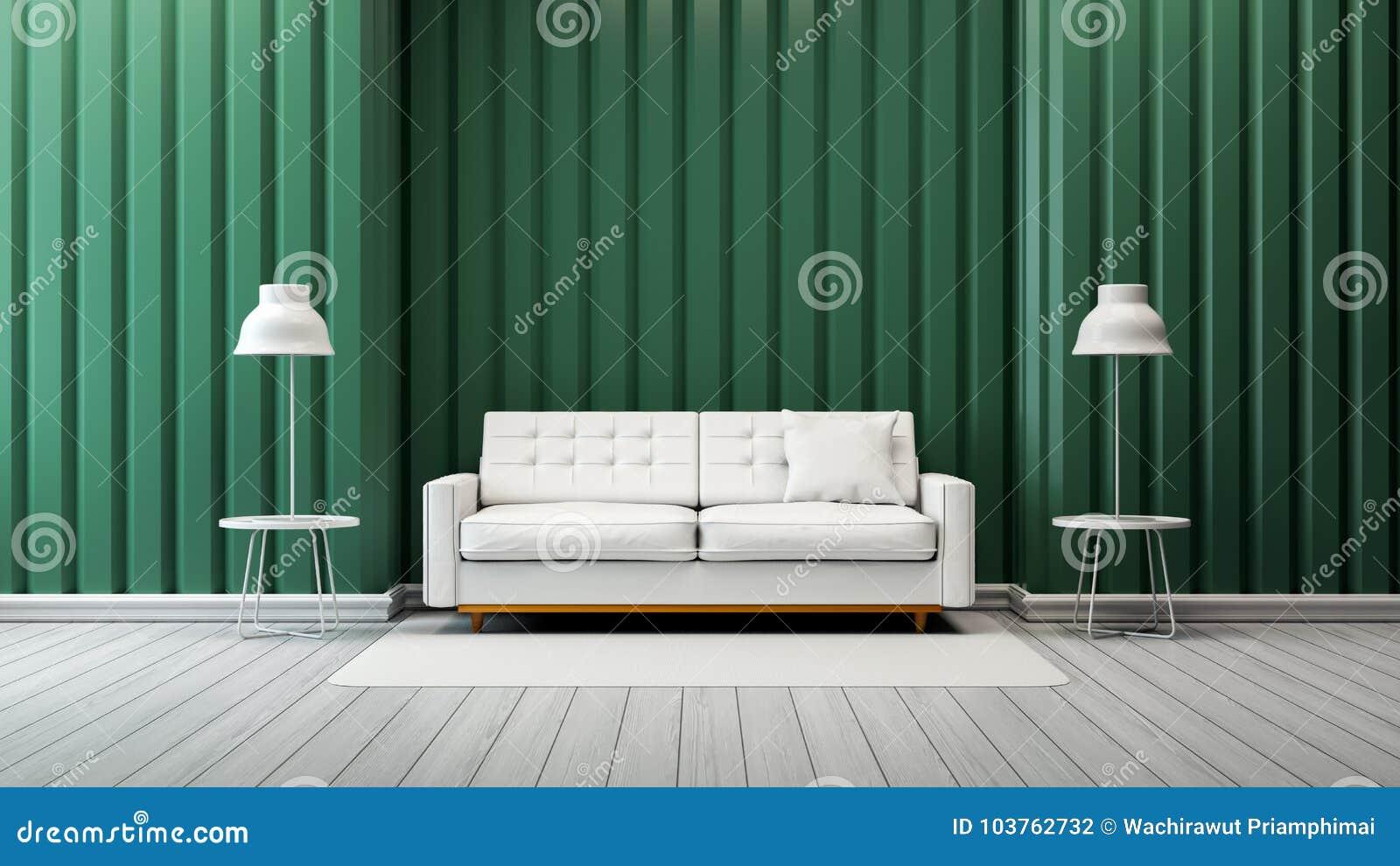 Modern Vintage Living Room Interior Design,white Sofa And ...