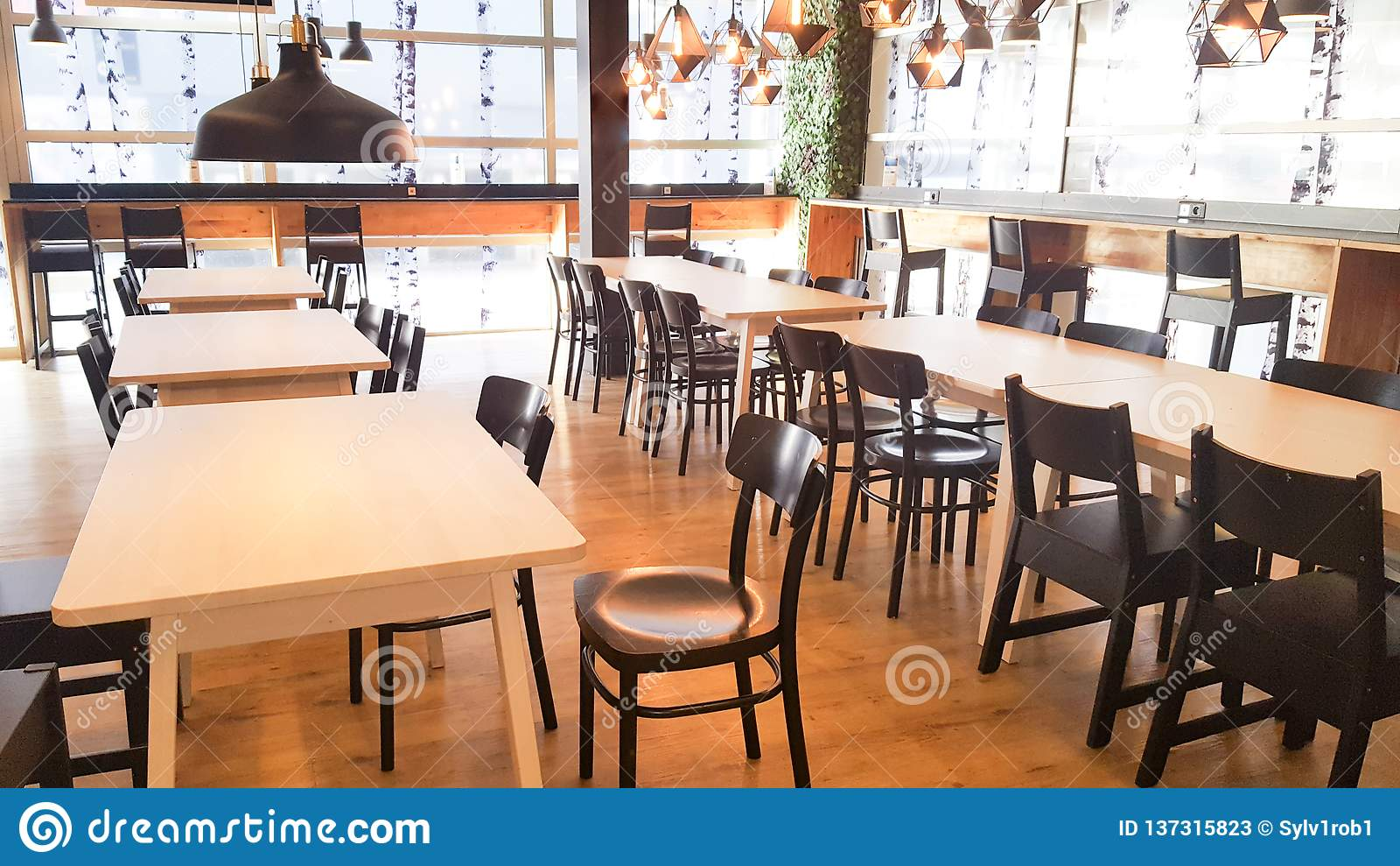 Modern Vintage Wood Restaurant Interior Design Stock Image Image Of Dining Dinner 137315823