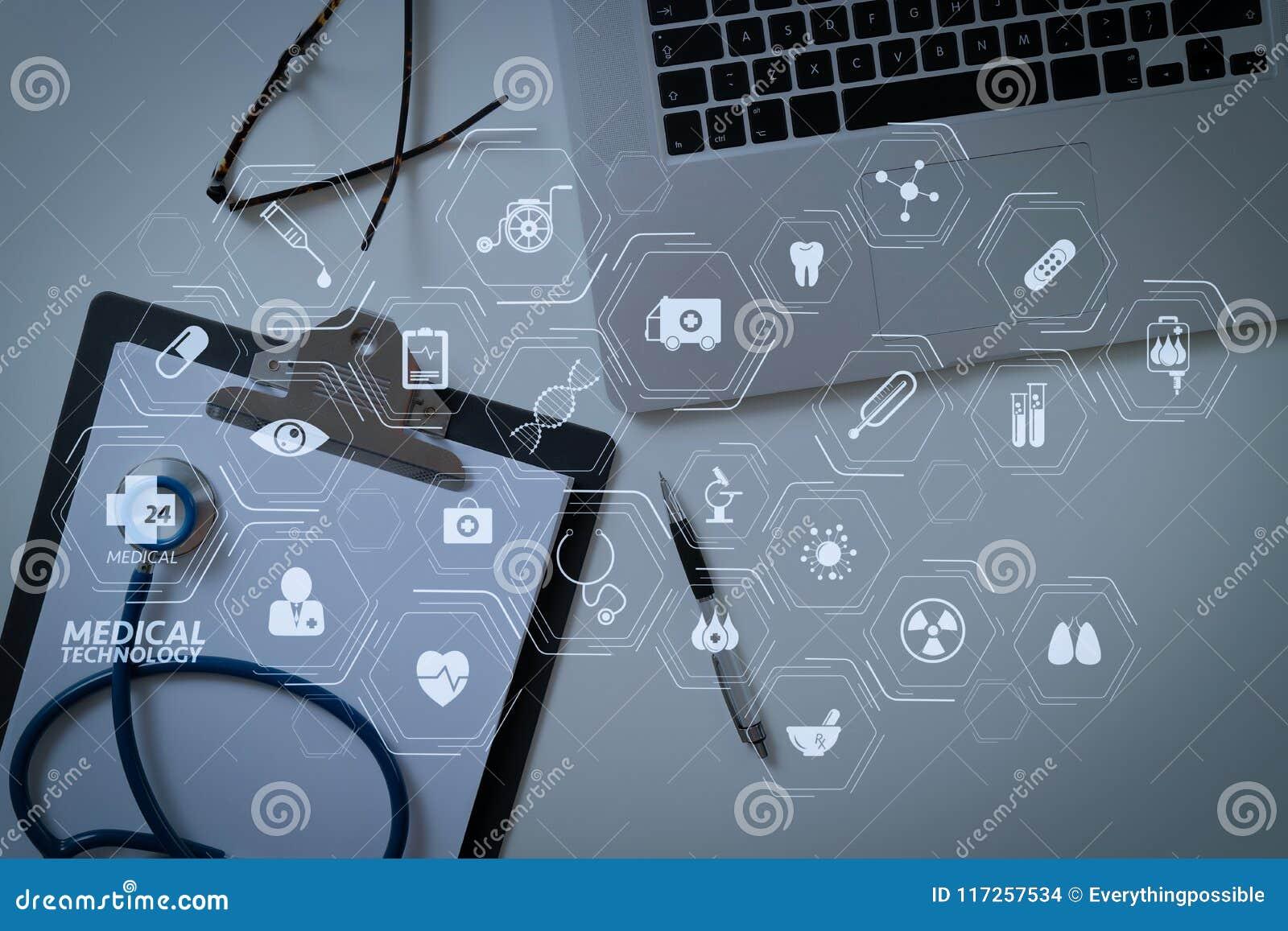 modern vr medical technology diagram concept blank stethoscope gray clipboard eyeglasses laptop computer white 117257534 blank stethoscope and gray clipboard and eyeglasses and laptop c