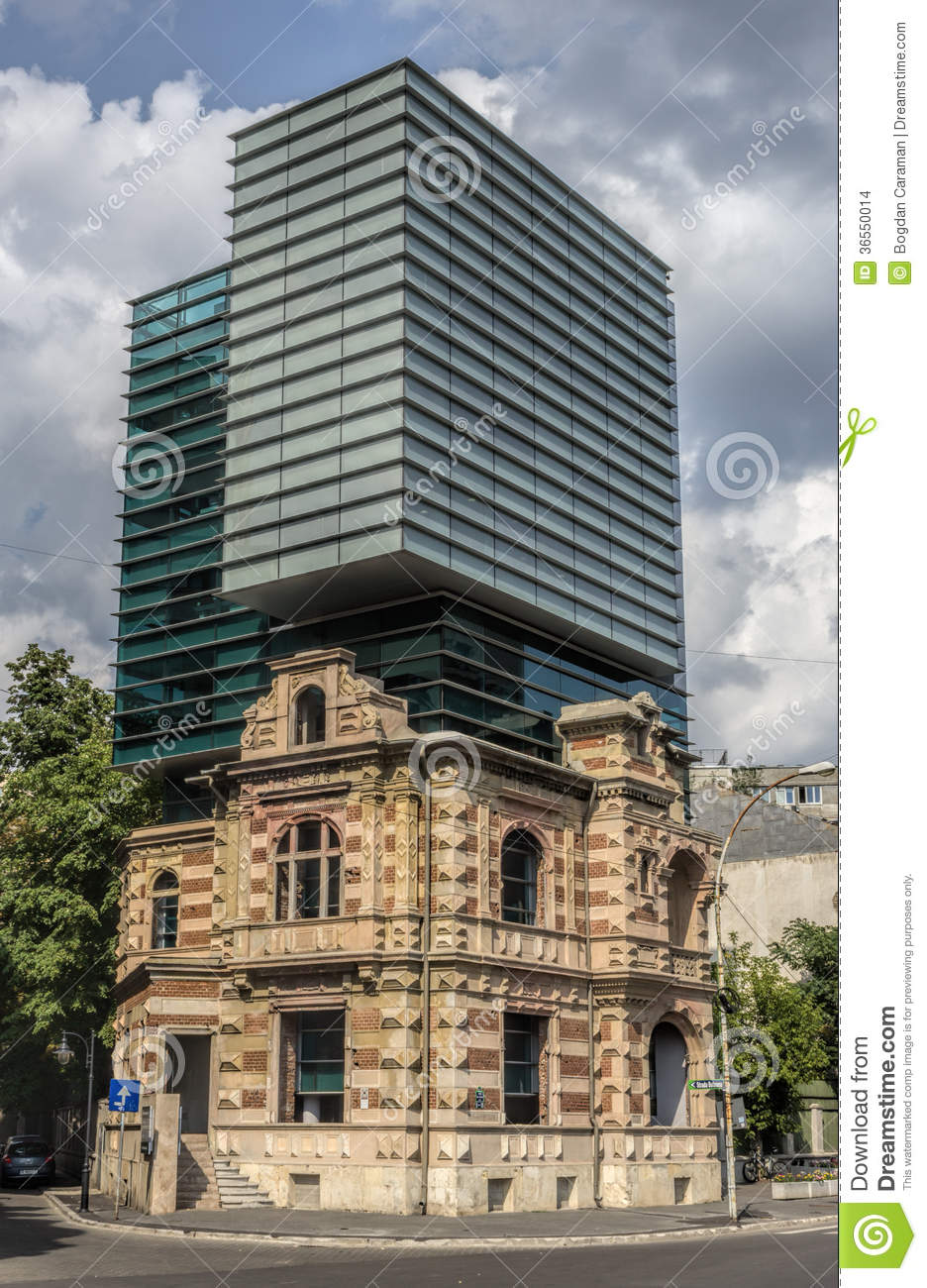 Modern Vs Historic Building Stock Photo Image Of House Detail