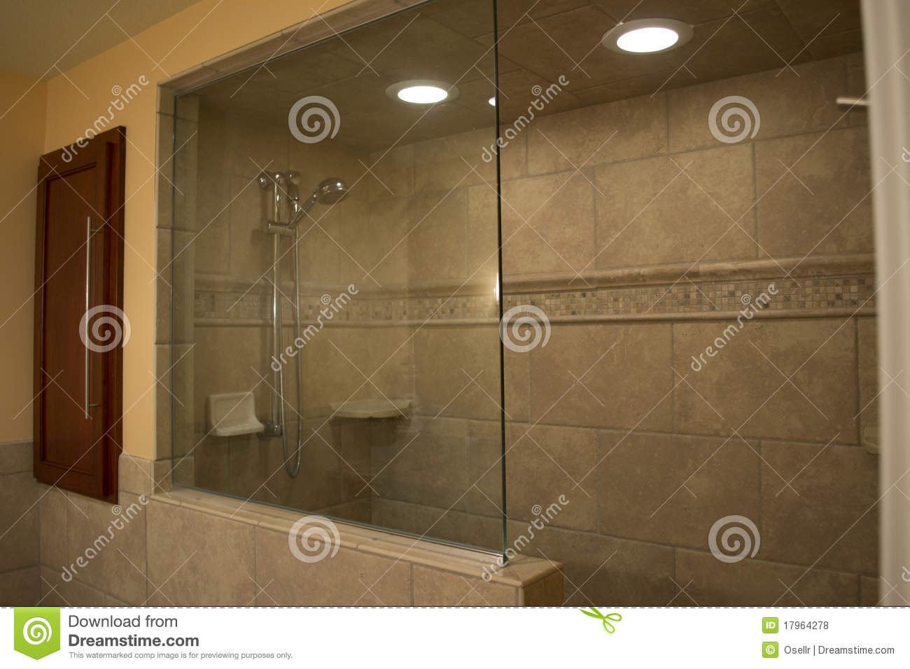 pics of walk in showers. Modern Walk In Shower Stock Photo  Image Of Chrome Home 17964278