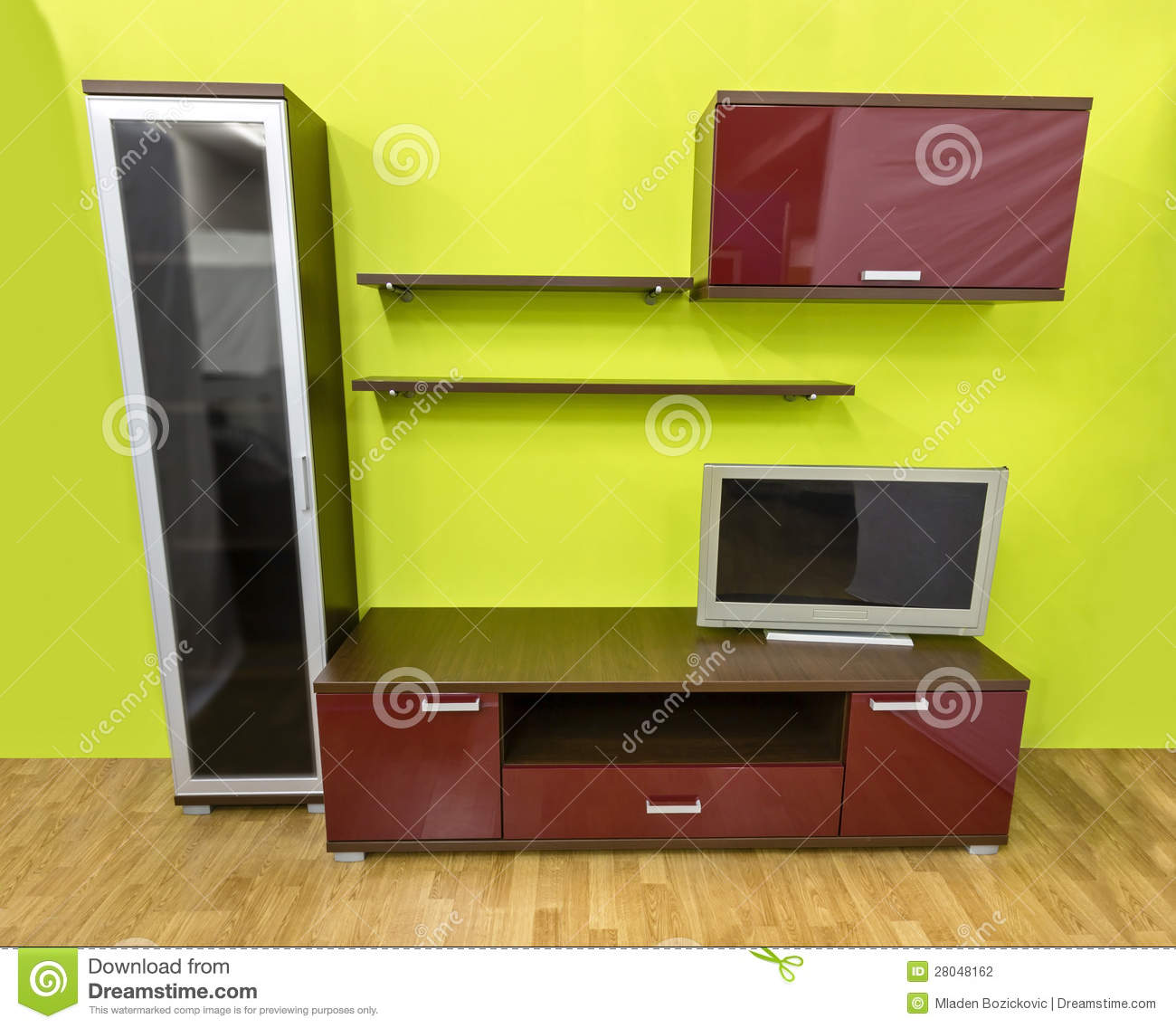 modern wall unit stock images - image: 27970094