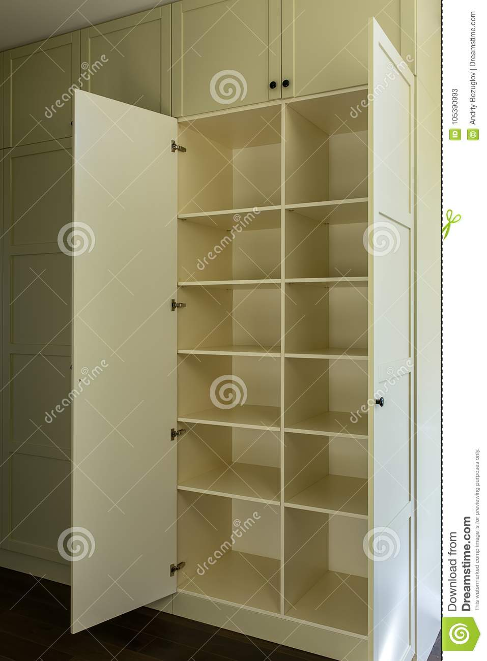 best loved 19e83 dc877 Modern Wardrobe With Shelves Stock Image - Image of ...