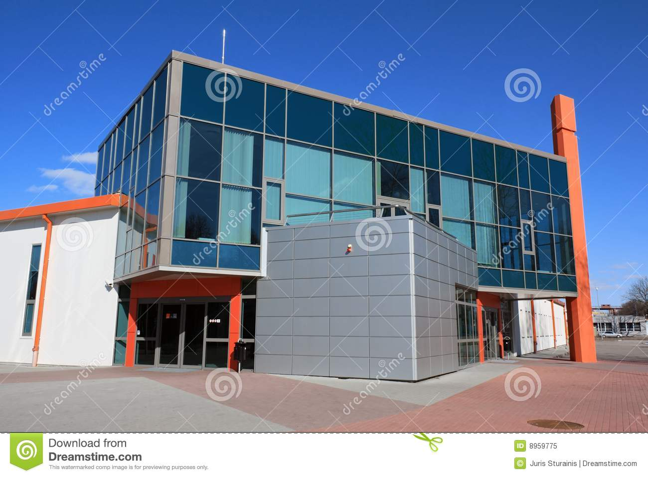Modern Warehouse And Office Building Royalty Free Stock