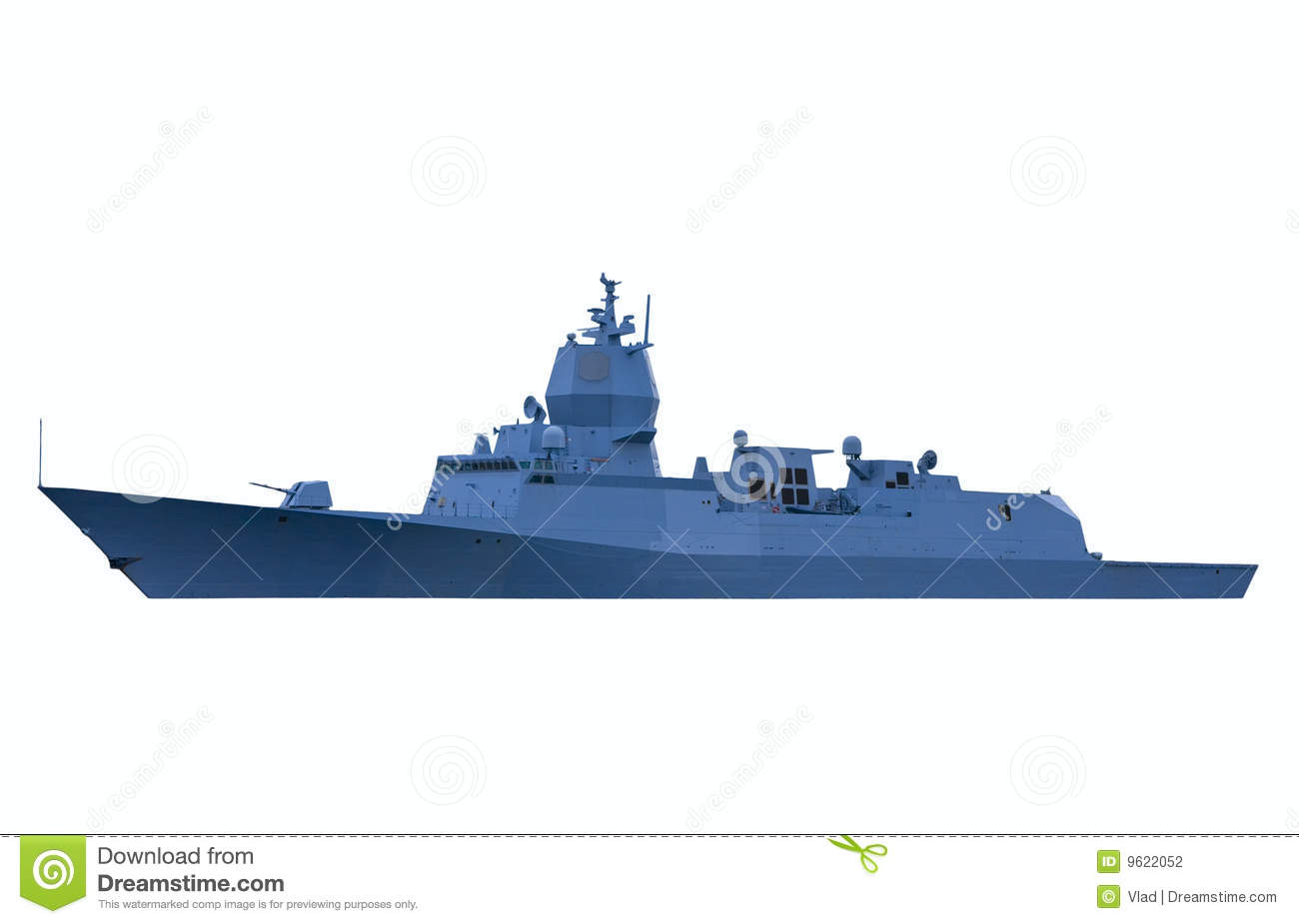 Modern Ship Design : Modern warship stock photography image