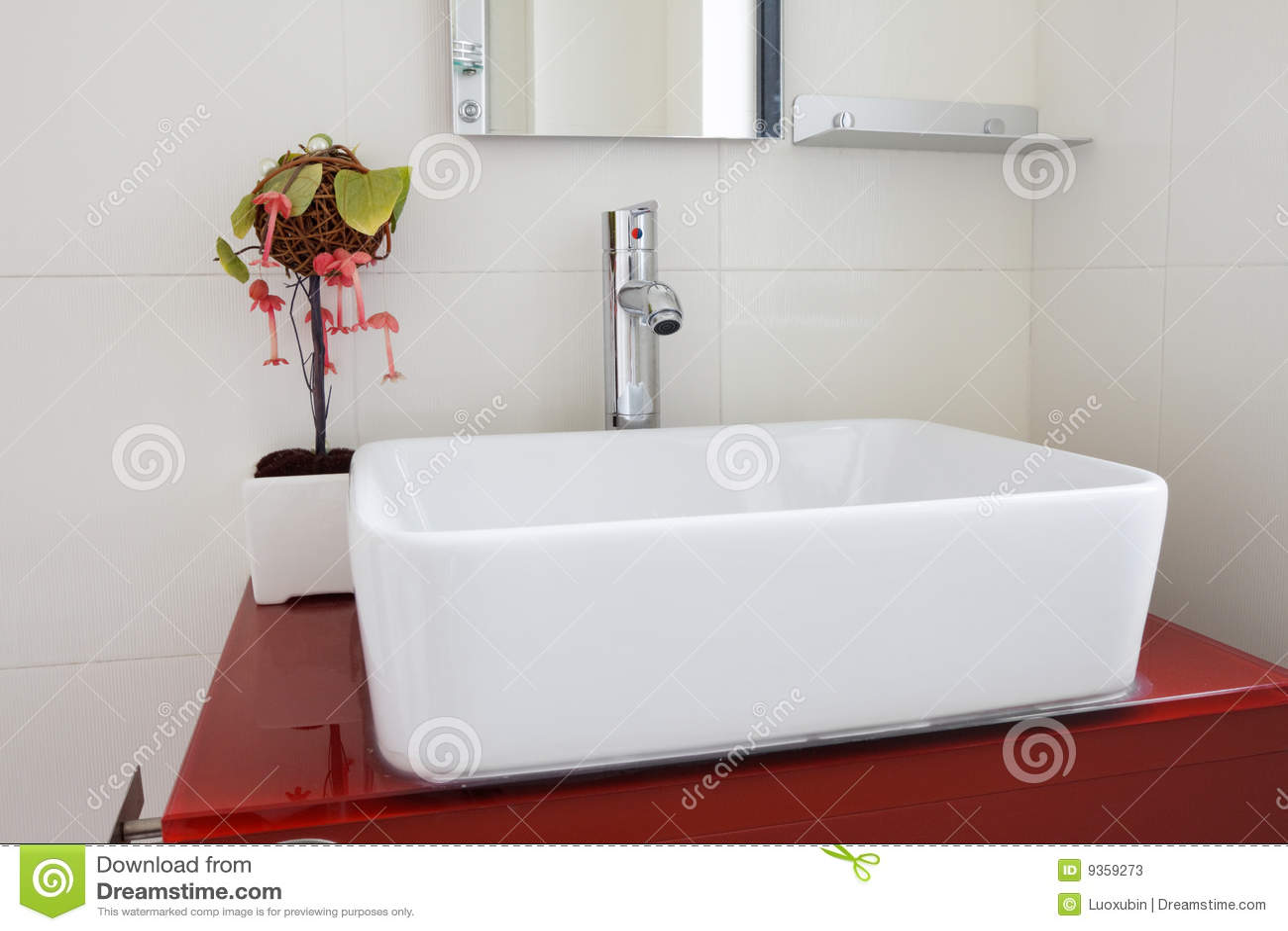 The modern washroom interior