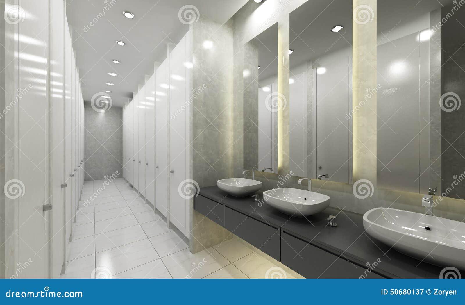 Modern washroom and toilets stock image image of for Washroom photo