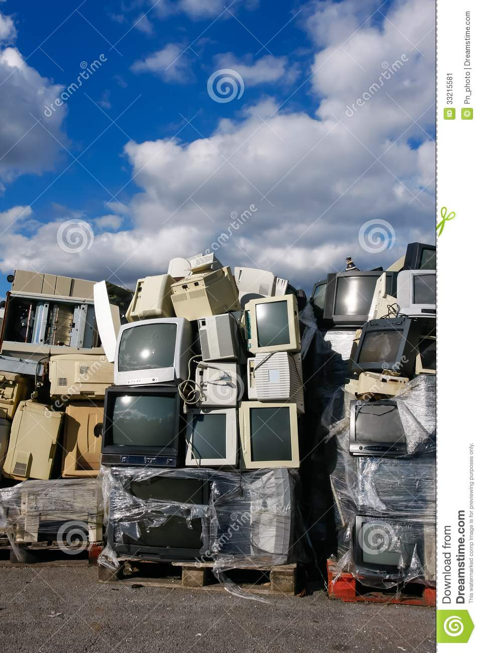 Modern waste of 80s and 90s stock image image 33215581 - Modern wastebasket ...