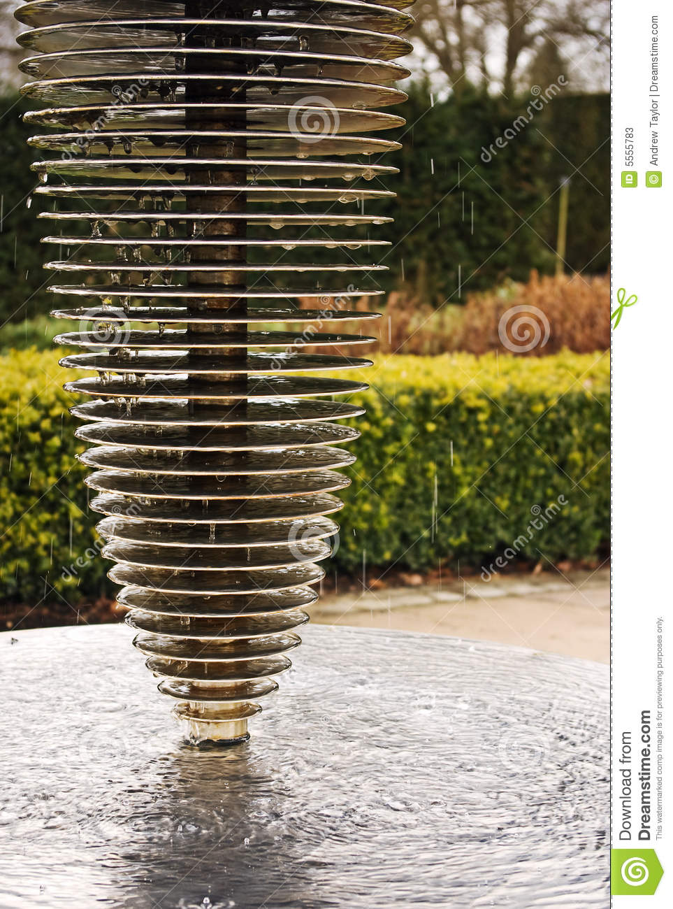 Modern Water Features Modern Water Feature Stock Photos Image 5555783