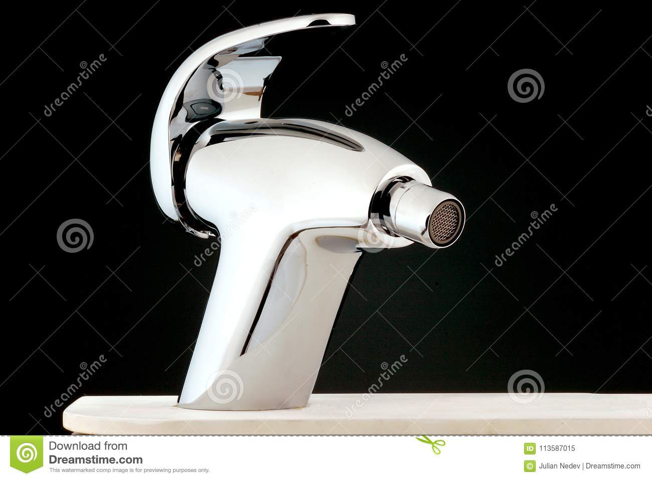 Modern Water-supply Faucet Mixer For Water Stock Image - Image of ...