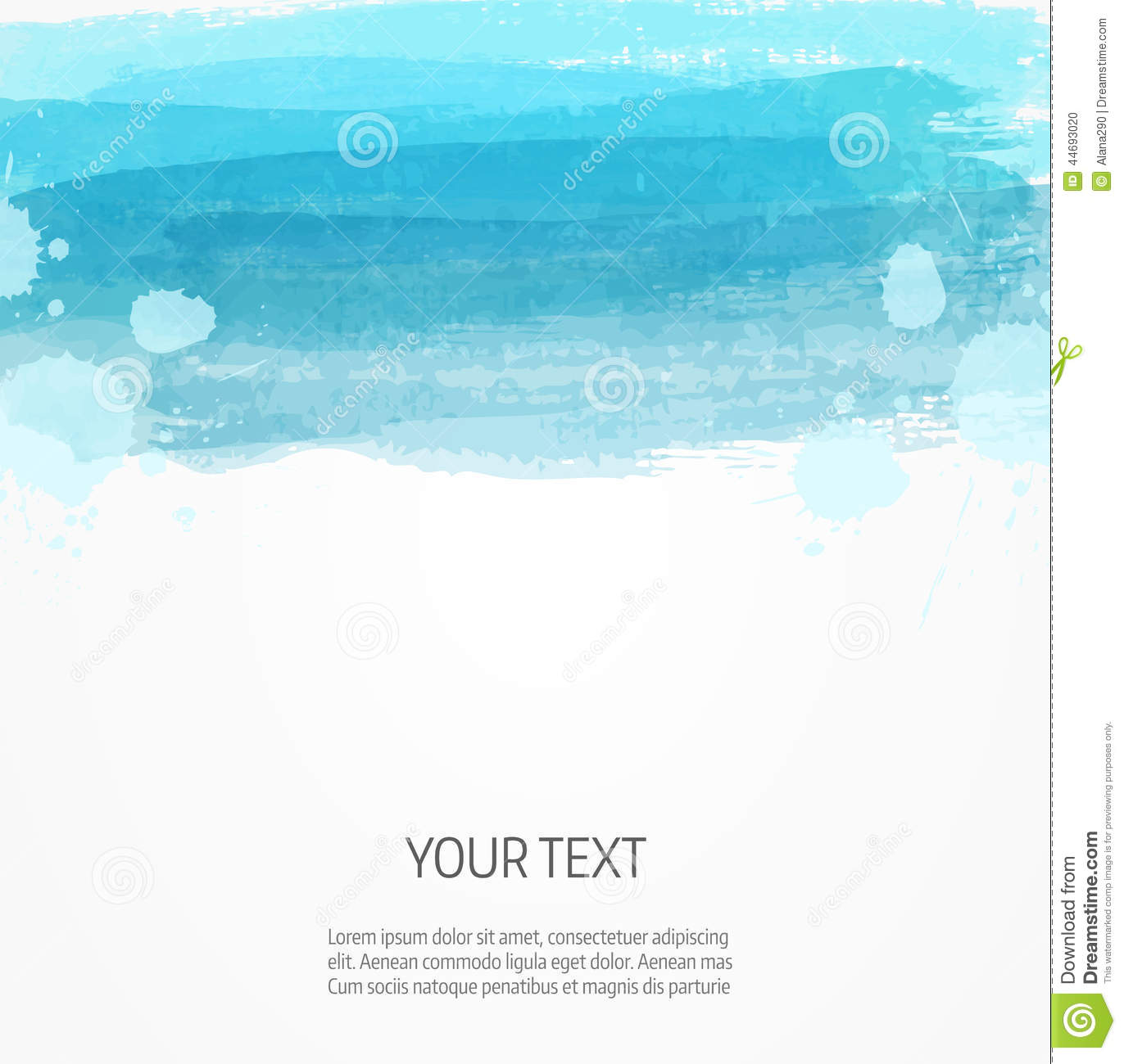 modern watercolor background template stock vector