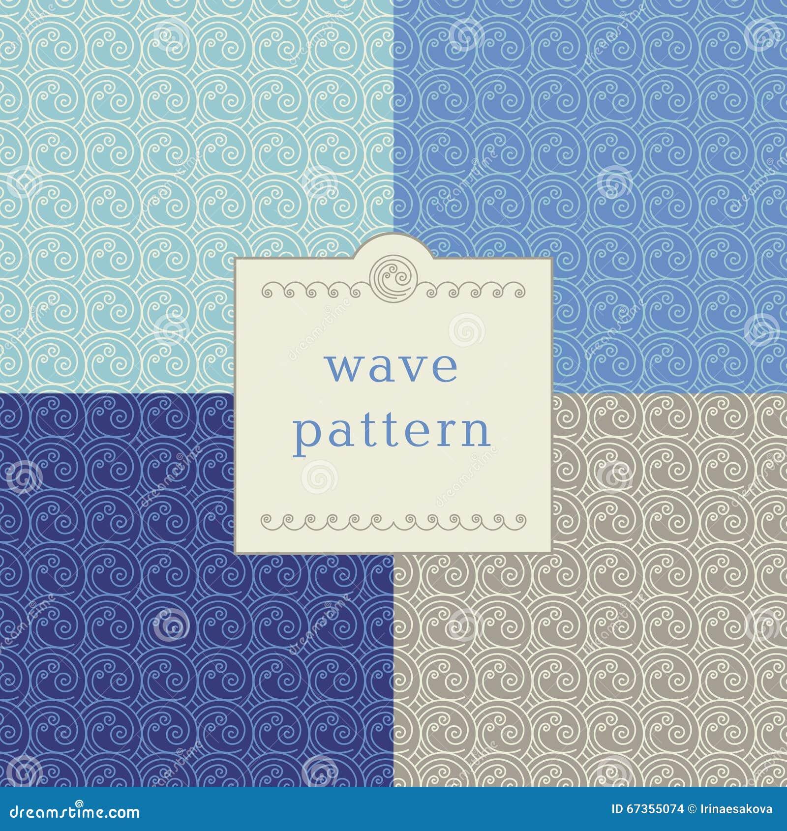 Modern wave pattern