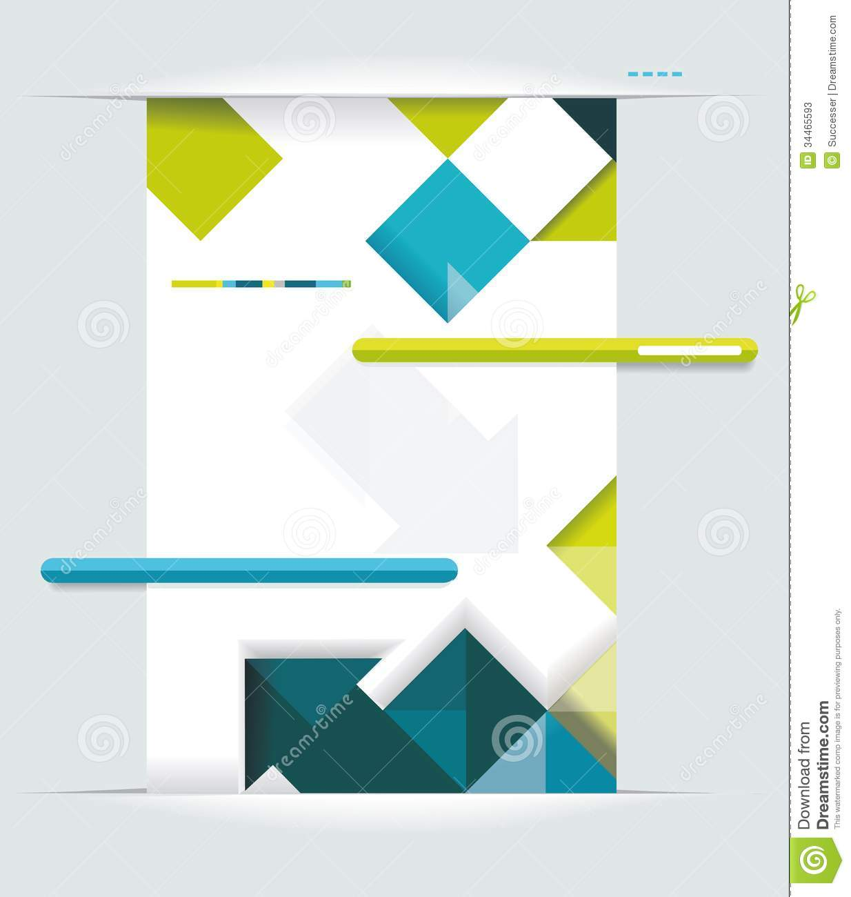 Simple Book Cover Page ~ Modern web design stock illustration of