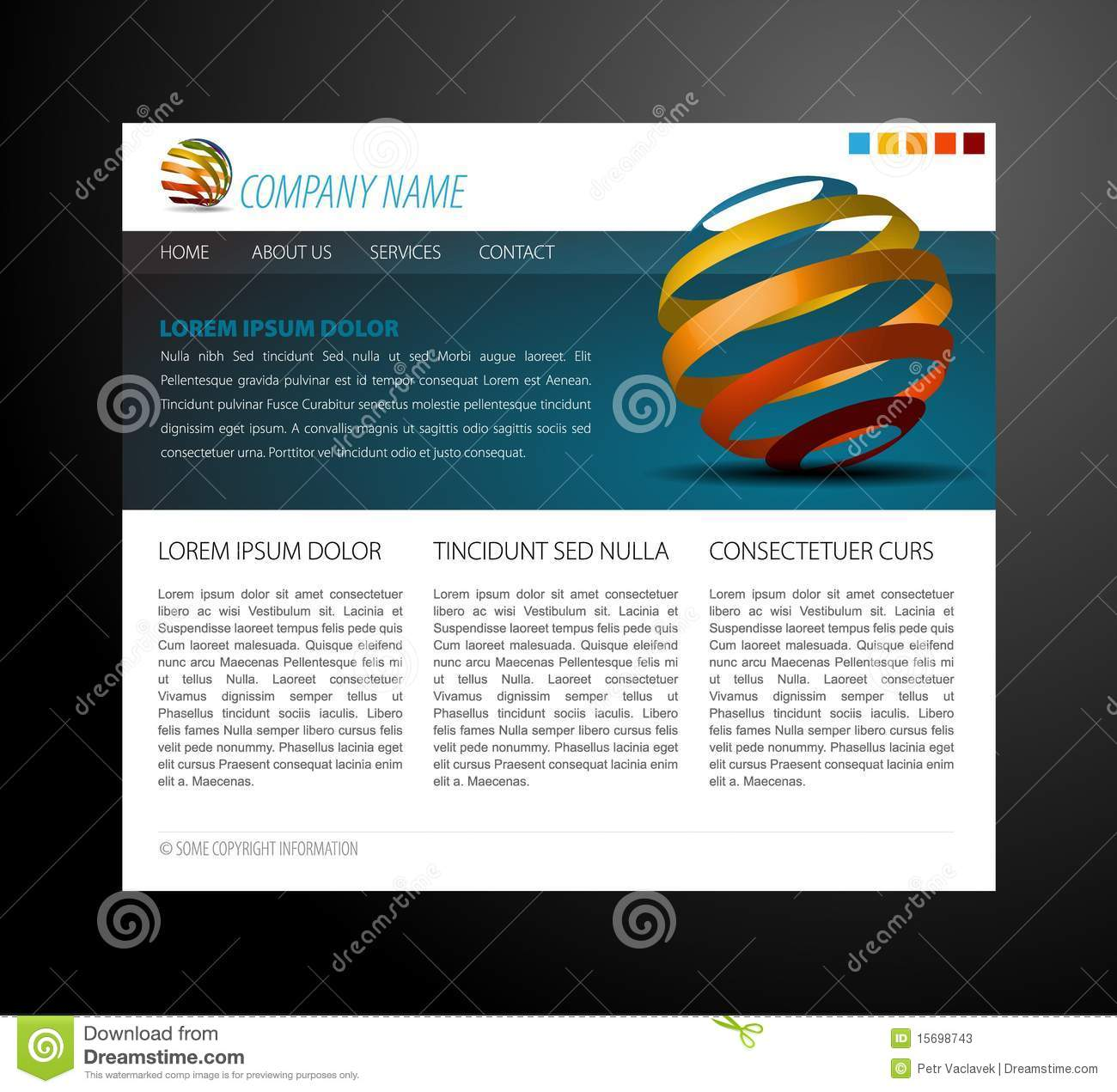 more similar stock images of modern website template