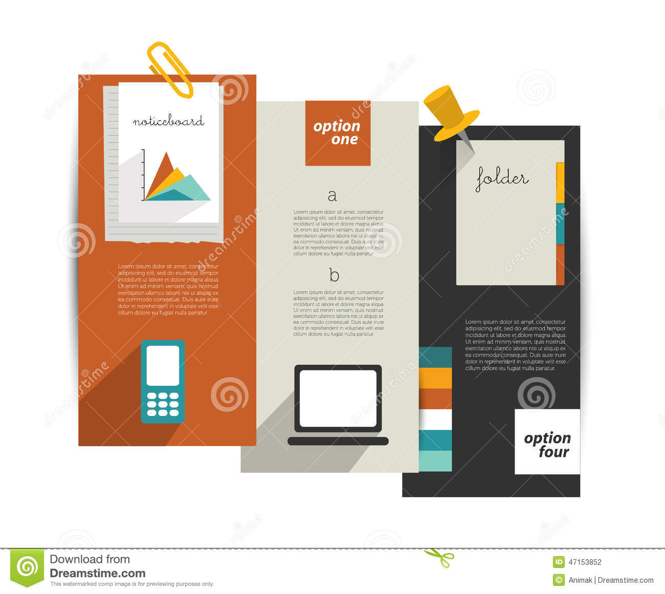 Modern Website Template. Colorful Minimalistic Option Banner. Stock ...
