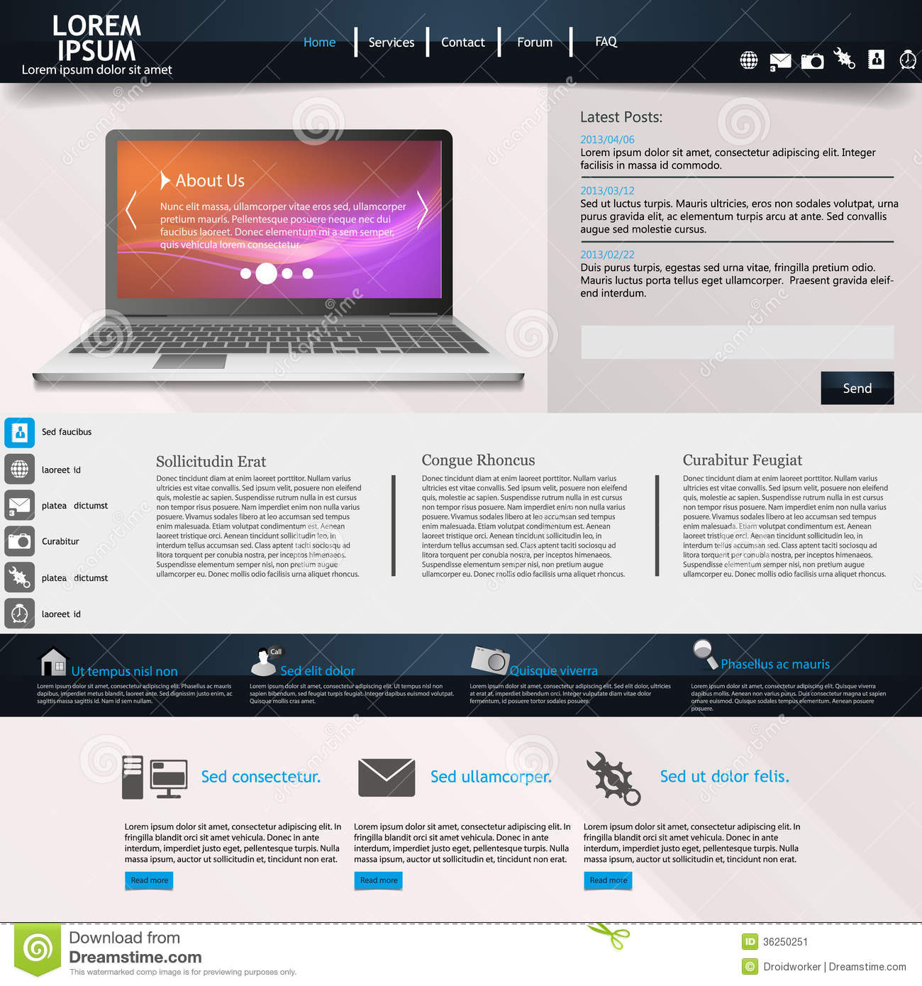 modern website template stock image image 36250251