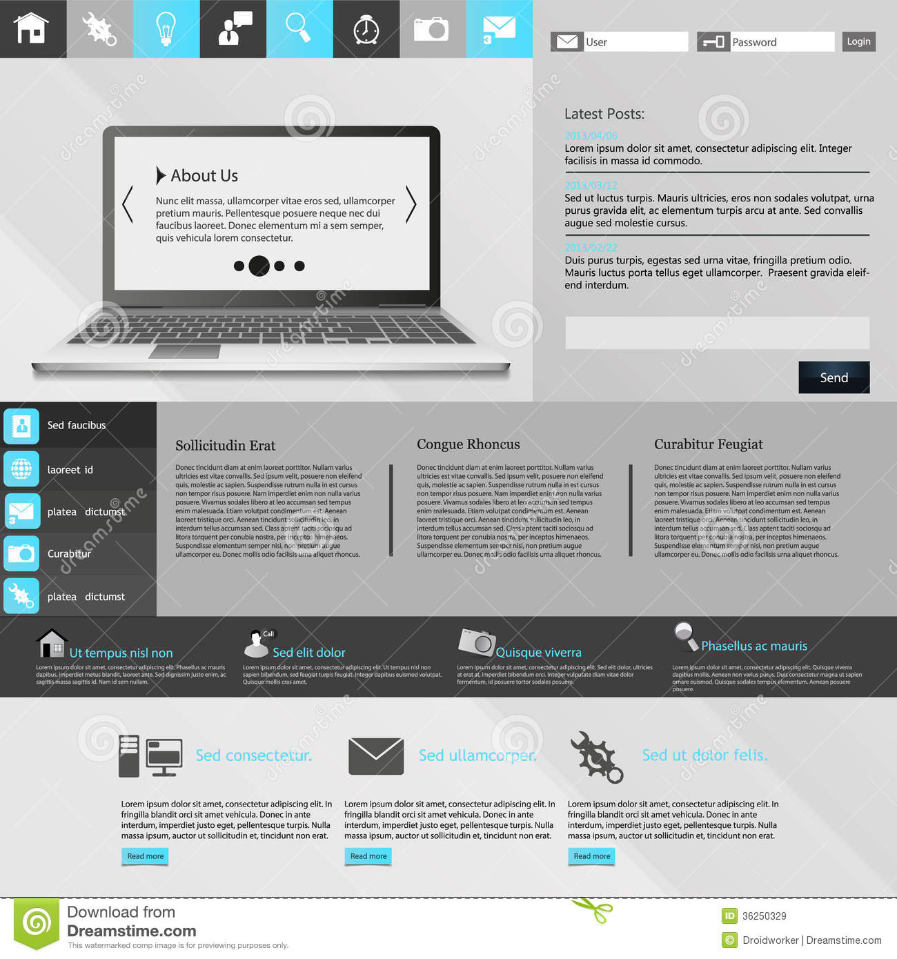 modern website template royalty free stock images image 36250329