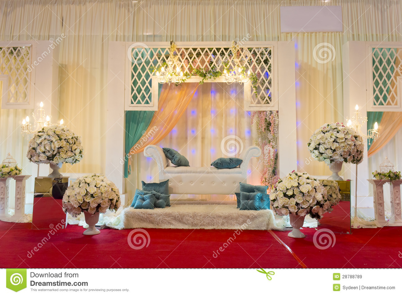 Modern Wedding Stage Stock Image Of Marriage Fabric