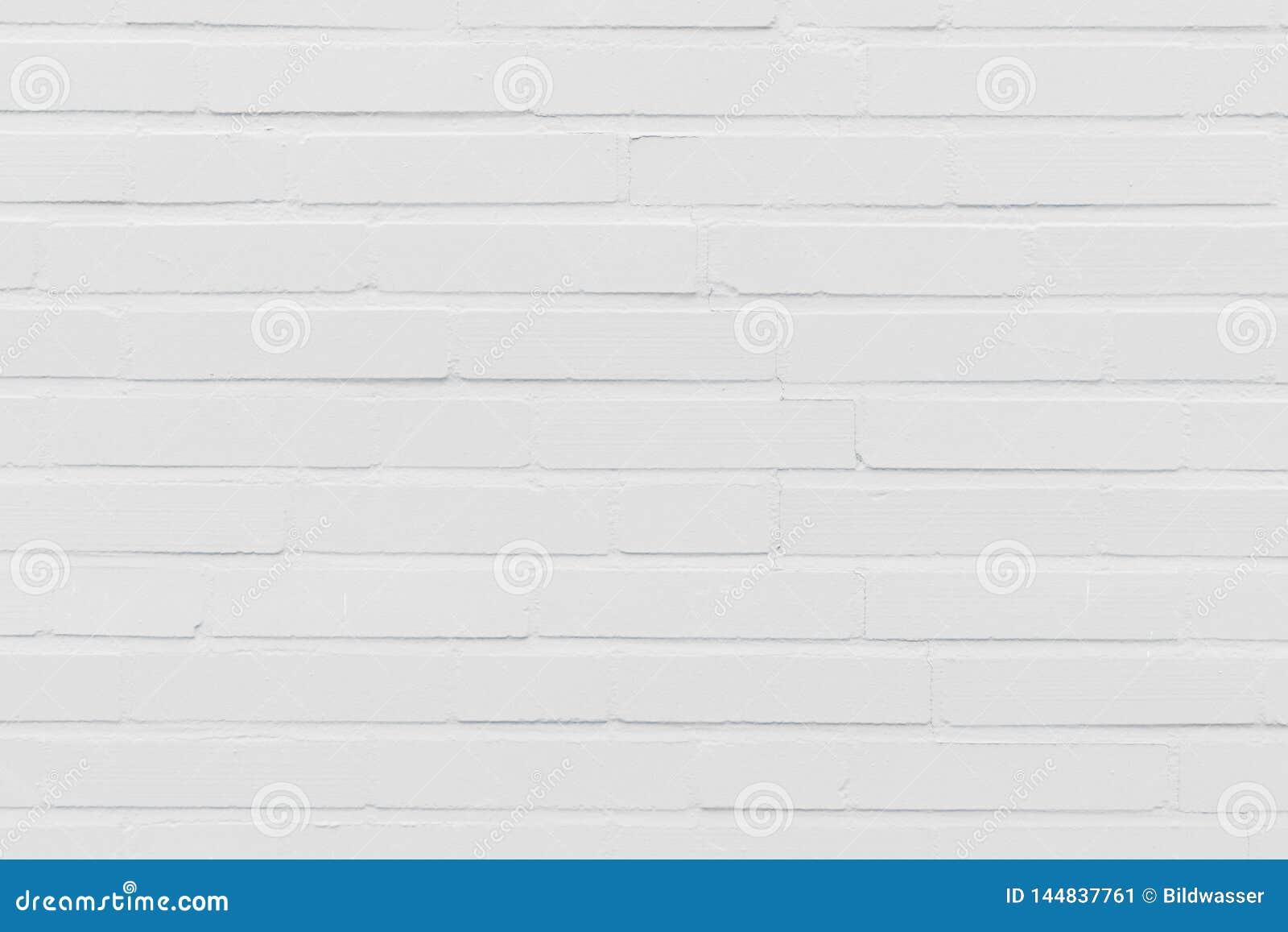 Modern White Brick wall Background Texture